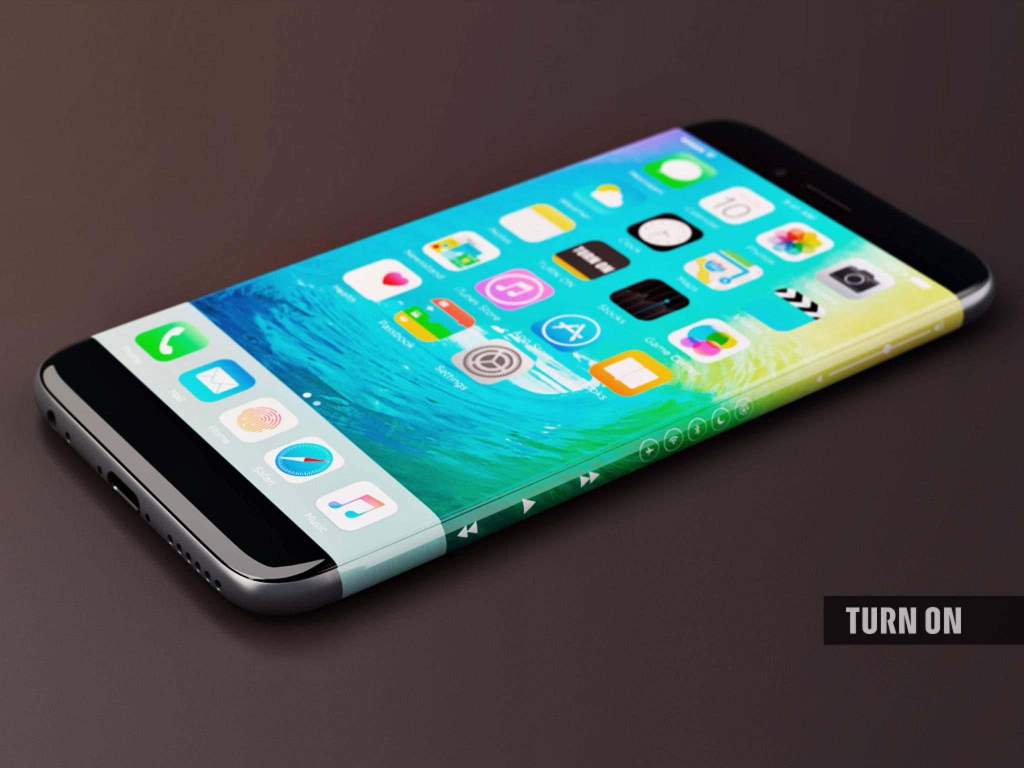 Eine Studie des iPhone 7 mit einem gebogenen OLED-Display.