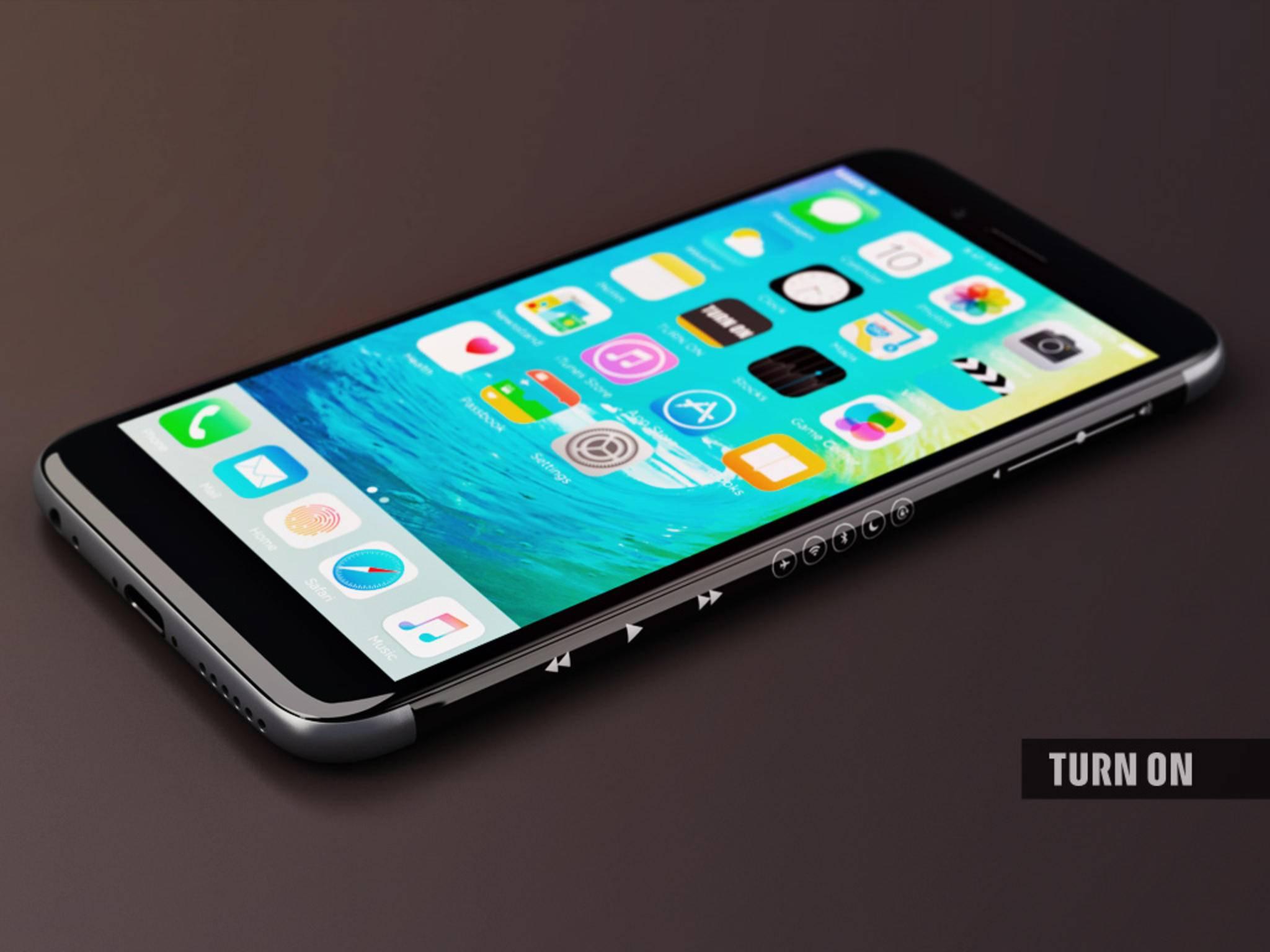 So könnte ein iPhone mit OLED-Display aussehen.