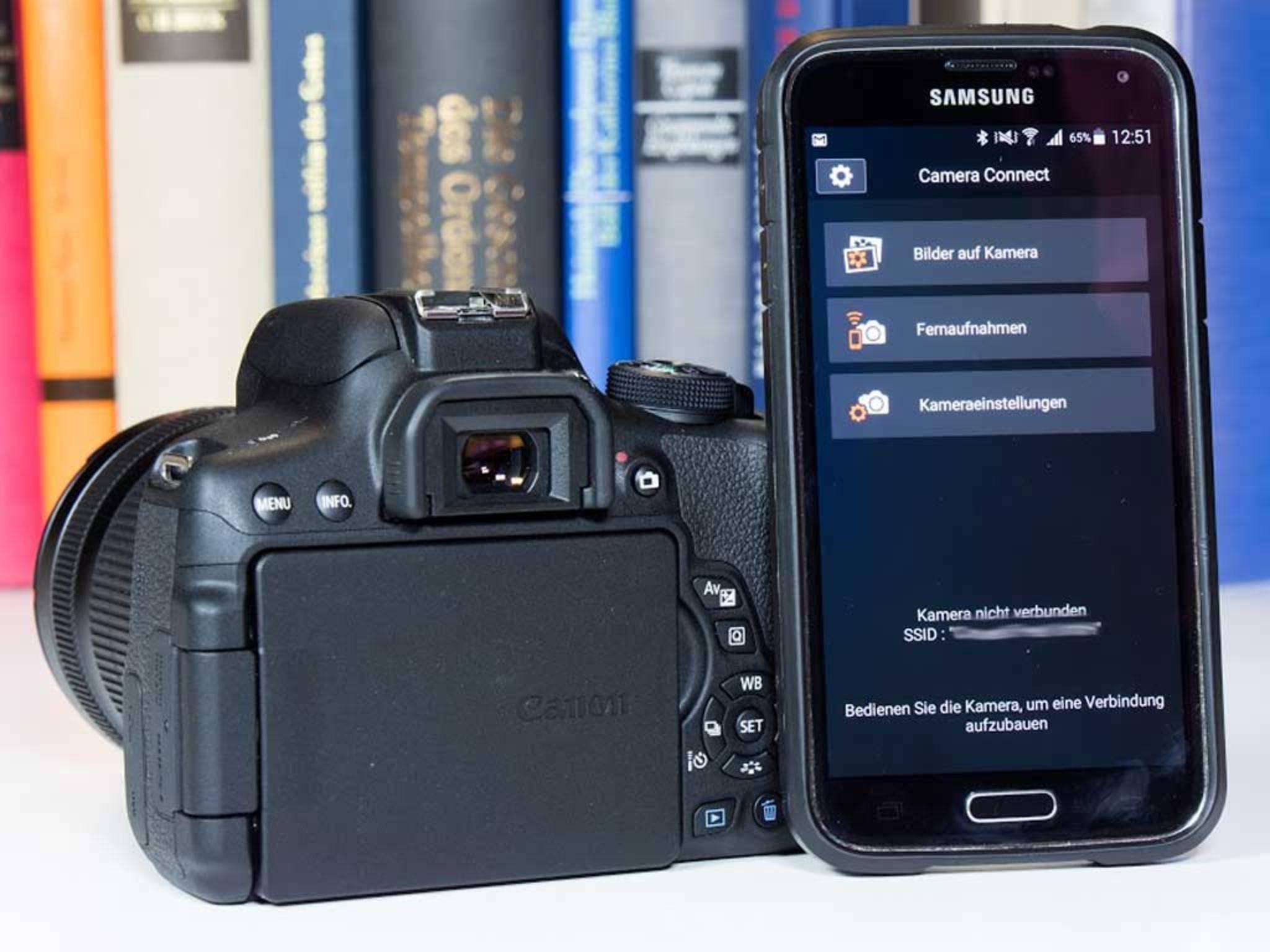 ... funktioniert dann aber recht gut, solange die Kamera und das Smartphone direkt verbunden sind. Dann lassen sich etwa ...