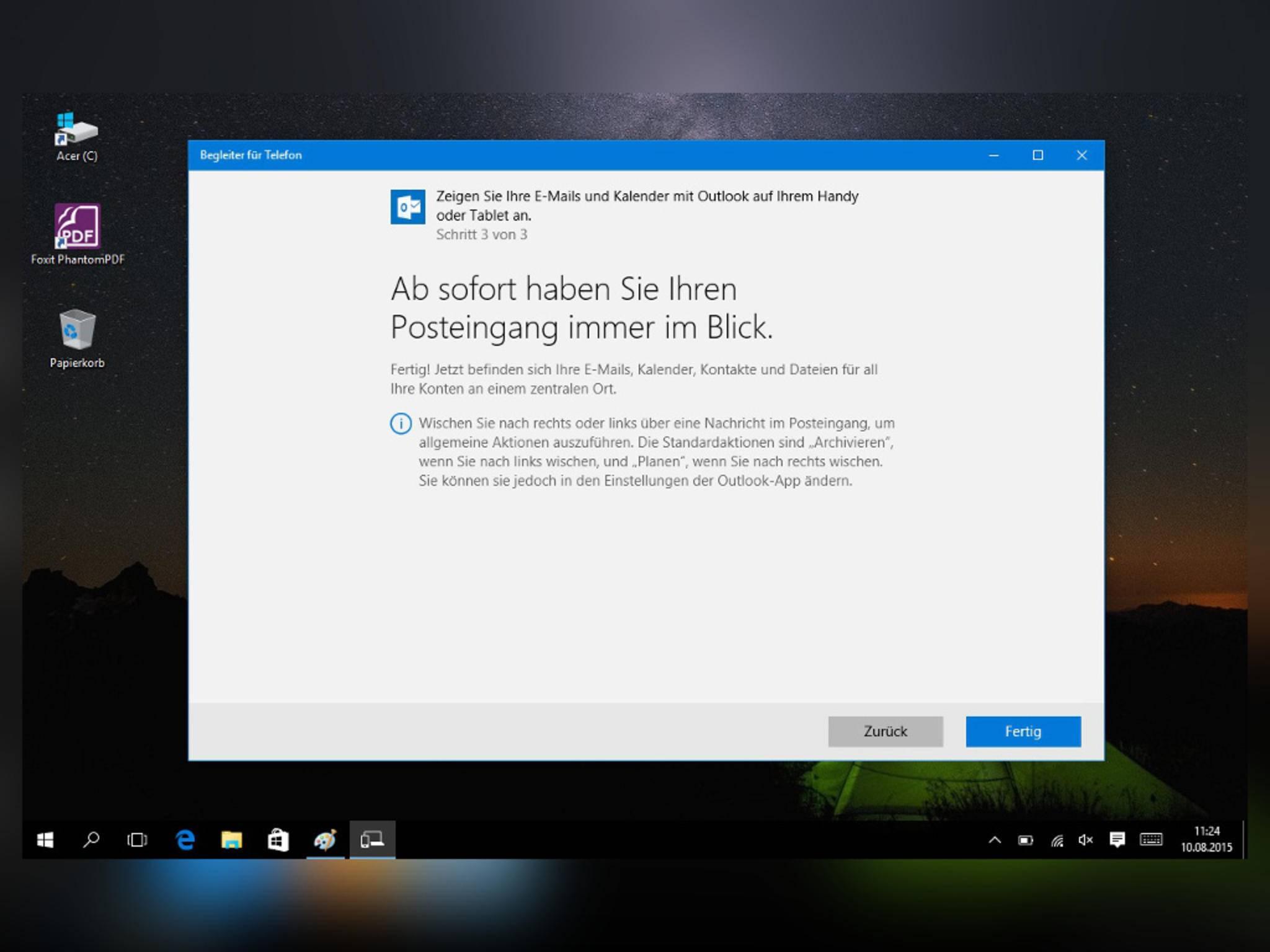 Grundvoraussetzung ist ein Microsoft-Konto.