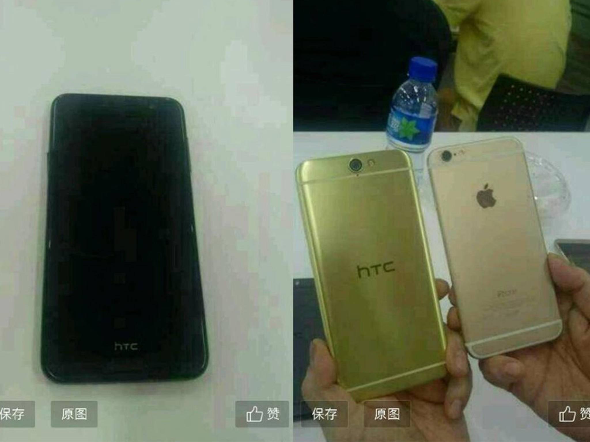 Das HTC A9 gleicht dem iPhone 6 in optischer Hinsicht frappierend.