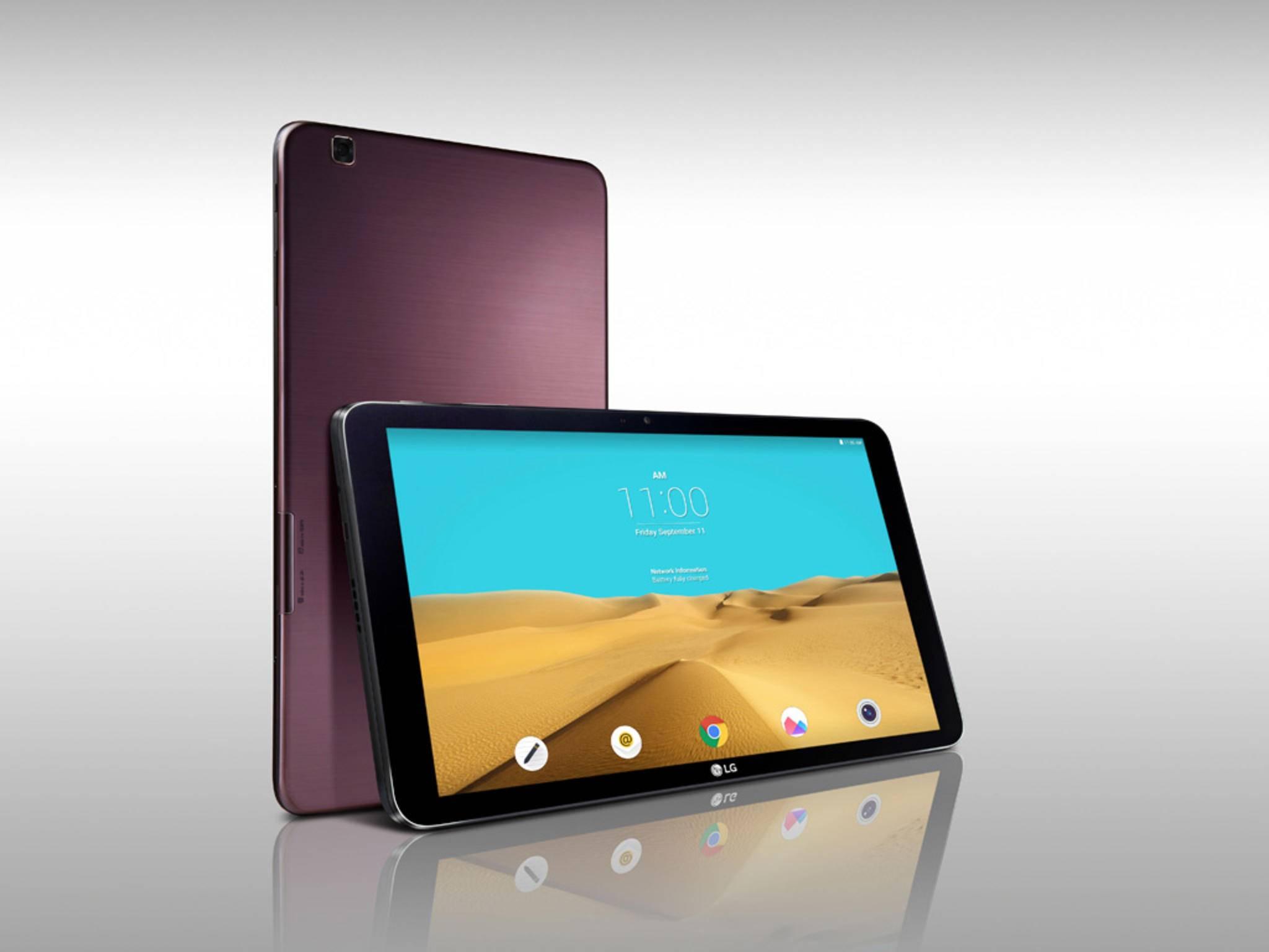 Das LG G Pad II setzt auf 10,1 Zoll Bildschirmdiagonale und wird auf der IFA vorgestellt.