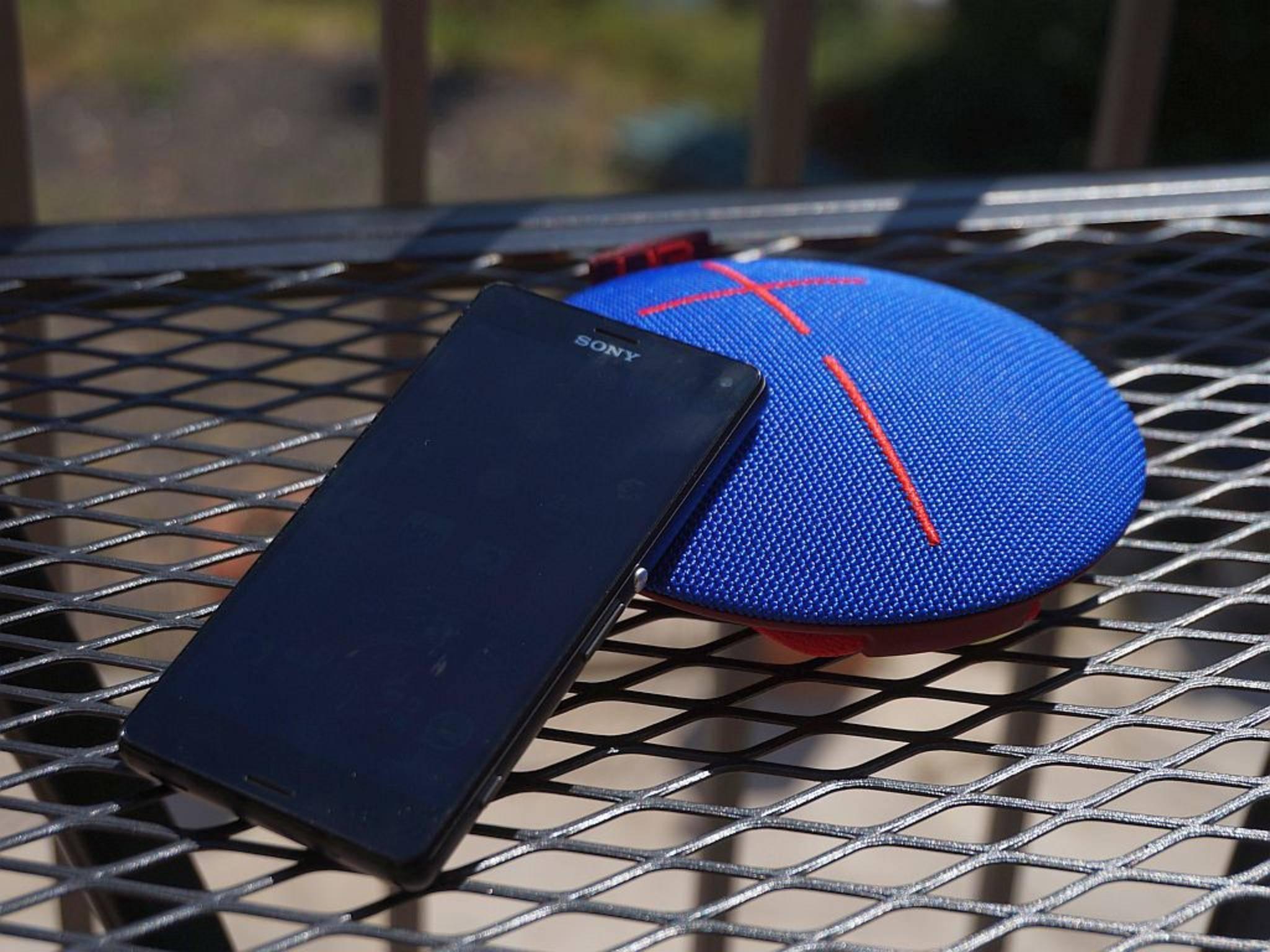 UE Roll lässt sich mit den meisten Smartphones prima betreiben.