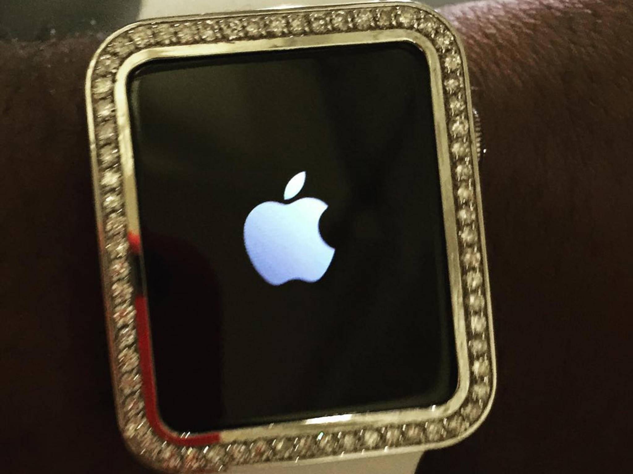 Diese mit Diamenten besetzte Apple Watch präsentierte Rapper Ludacris.