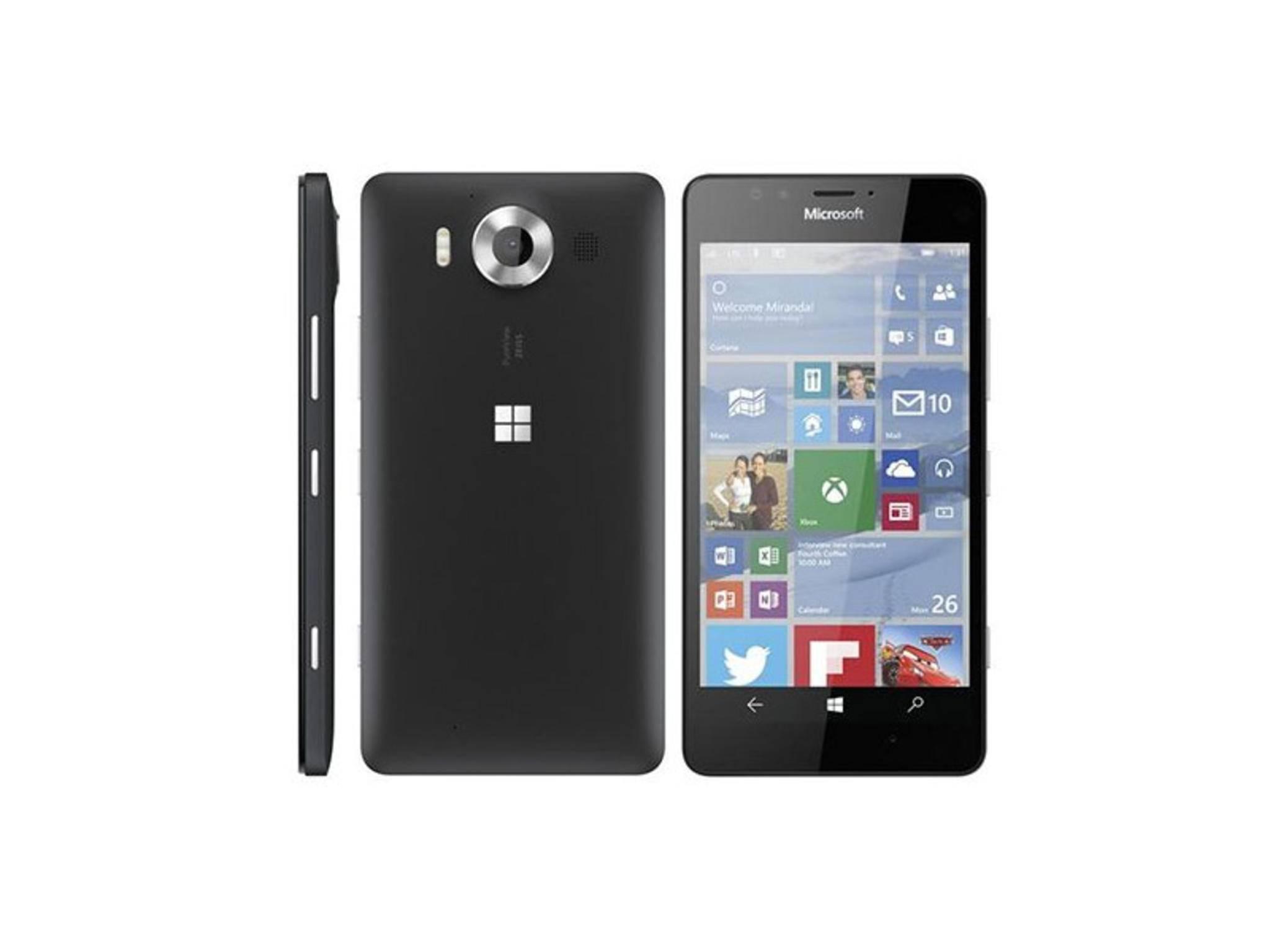 Das Lumia 950 mit 5,2 Zoll Bildschirmdiagonale und Quad-HD-Screen.