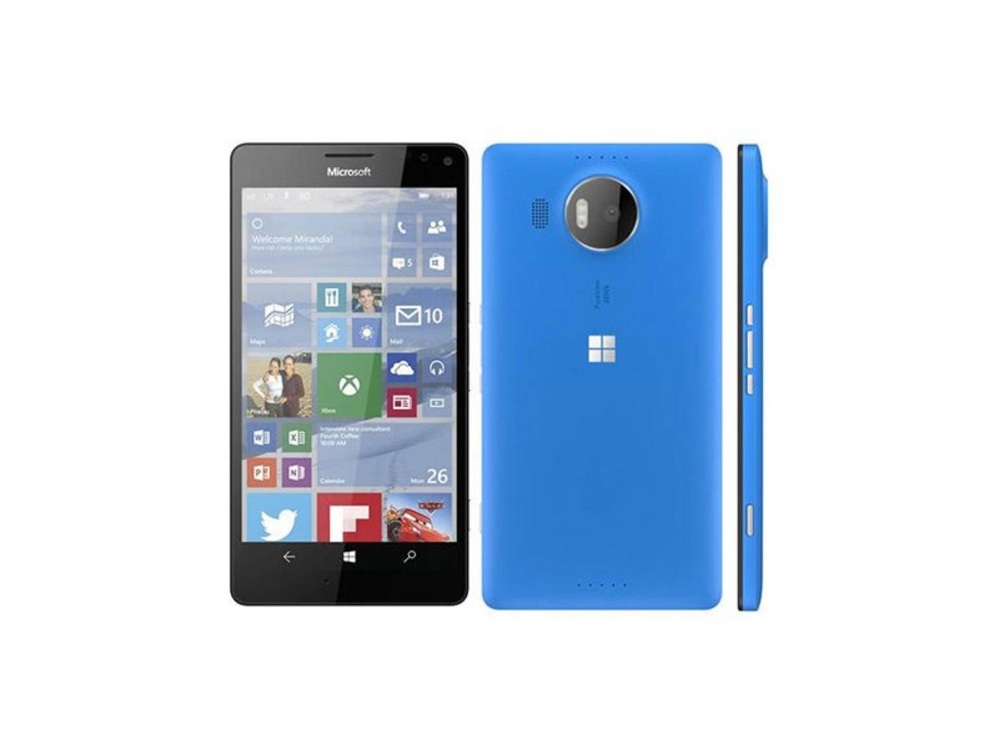 Das Lumia 950 XL in Cyan mit 5,7 QHD-Screen.