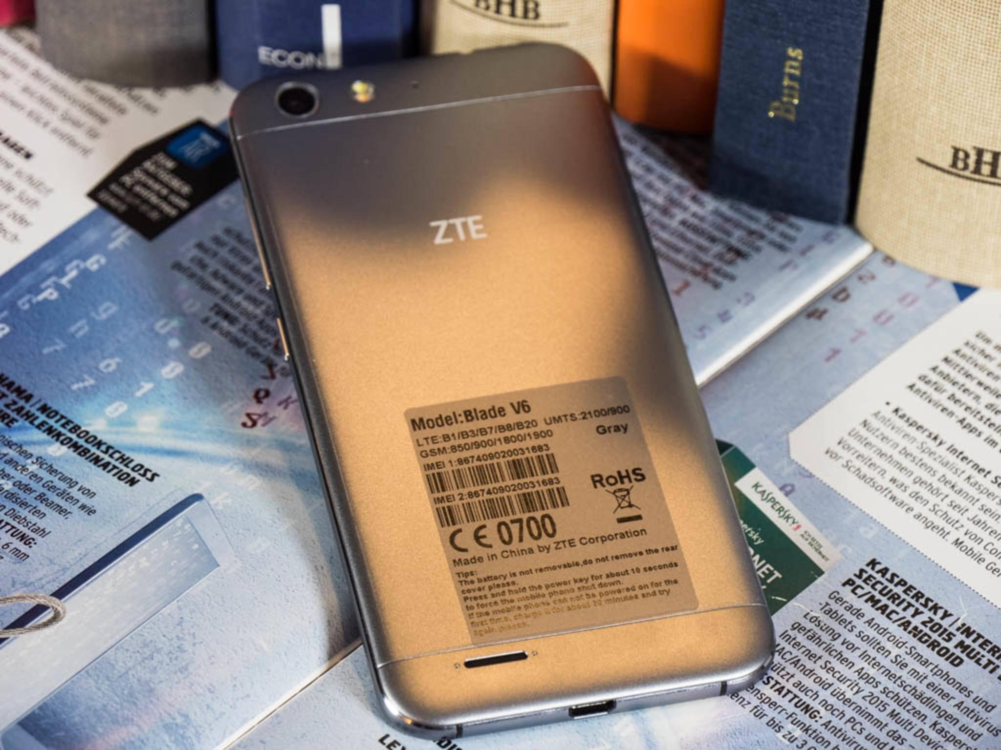 Das ZTE Blade V6 wird ab September 2015 im Handel erhältlich sein.