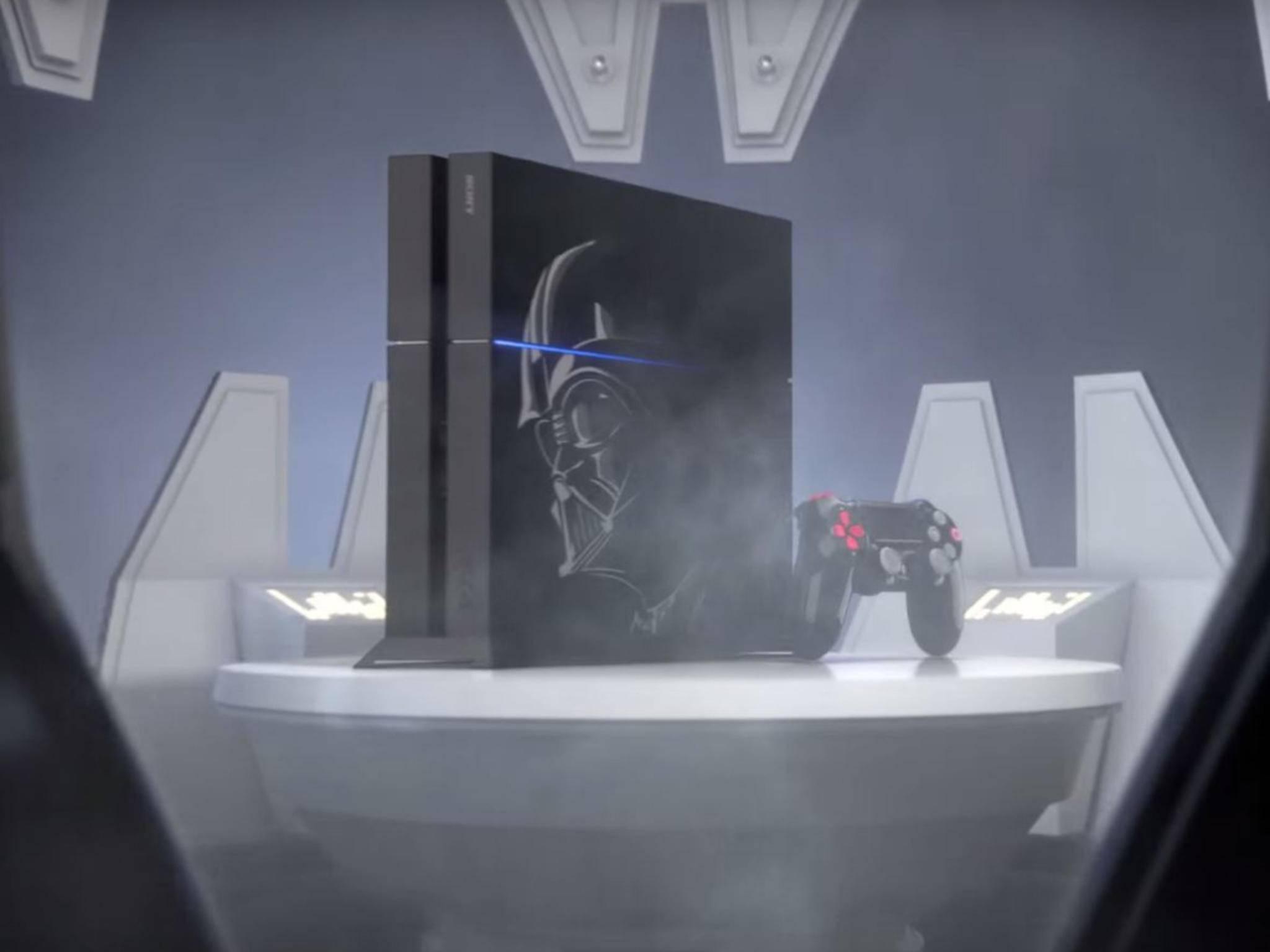 Die PS4 Neo dürftemit neuen Akzenten an die PS4 erinnern. Hier eine PS4 im Vader-Look.