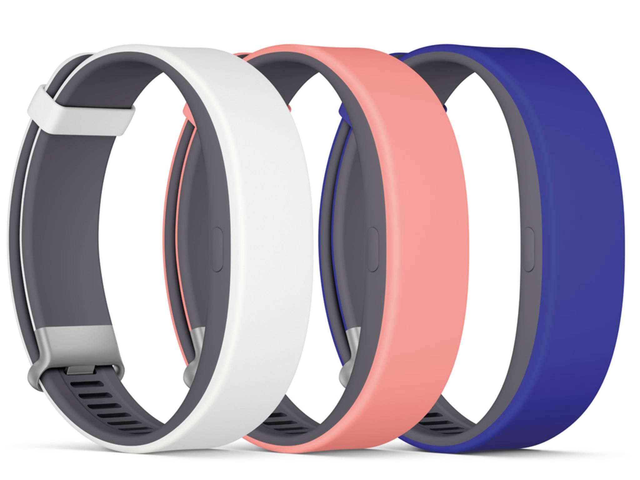 Das SmartBand 2 wird in verschiedenen Farben erhältlich sein.