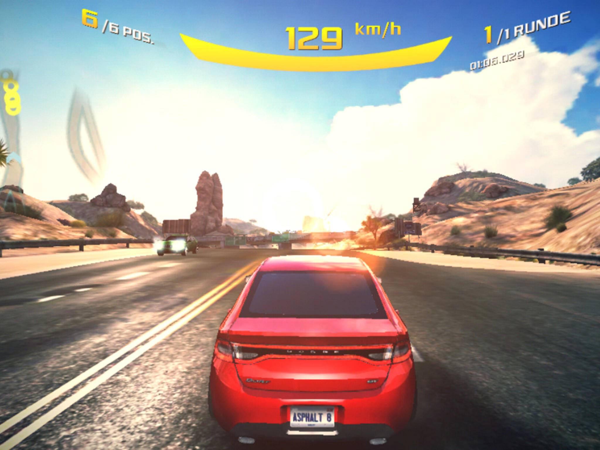 """Spiele wie """"Asphalt 8: Airborne"""" stellt das ZTE Blade V6 mühelos und ohne Ruckler dar."""