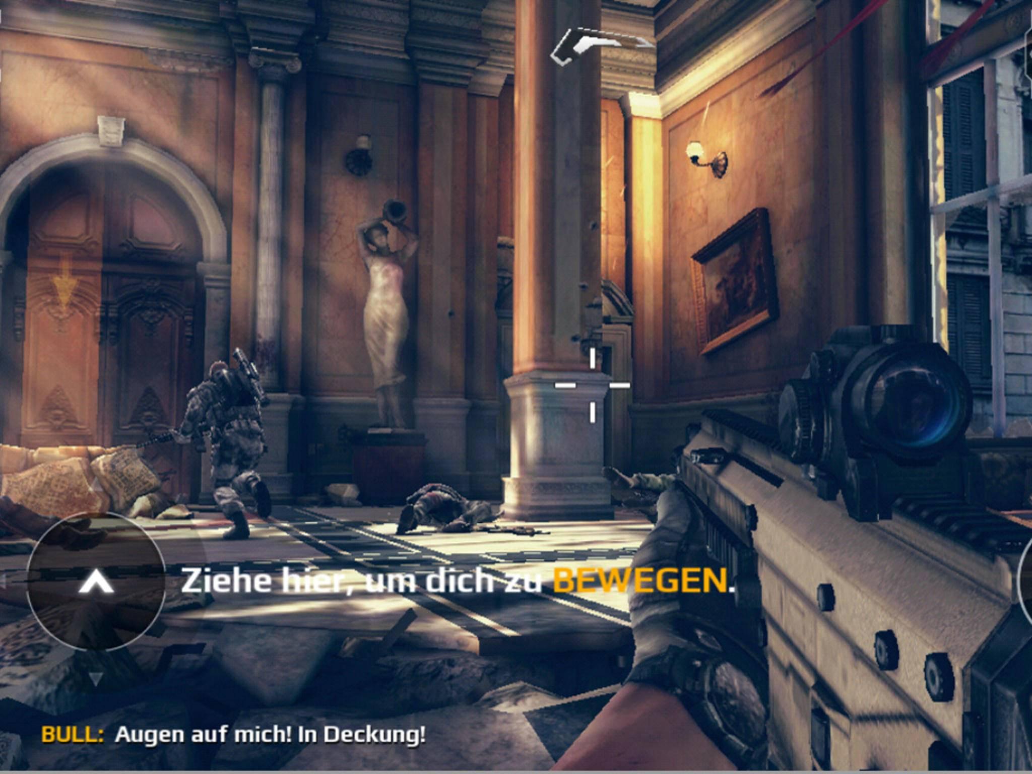 """""""Modern Combat 5: Blackout"""" bereitet dem Smartphone ebenfalls keine Schwierigkeiten."""