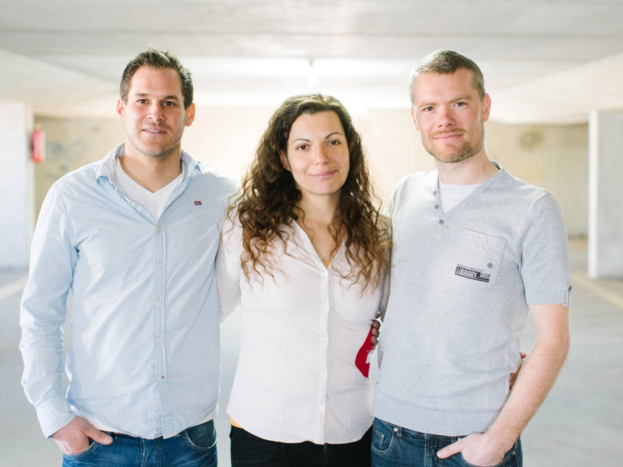 Die Macher hinter add-e (von links): Thomas Pucher, Tihana Pintaric und Erfinder Fabian Gutbrod.