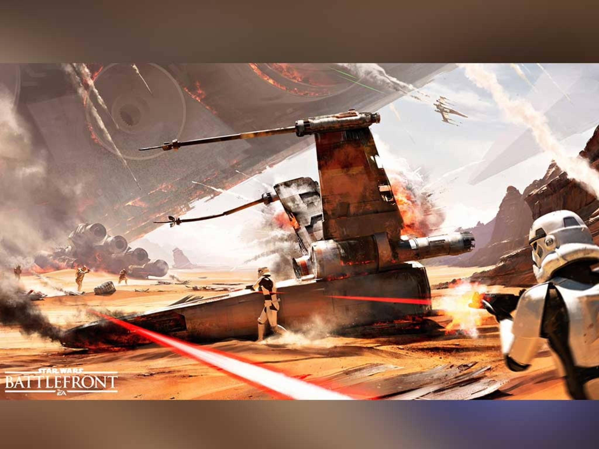 """""""Star Wars Battlefront"""" sorgte schon auf der E3 für Aufsehen."""