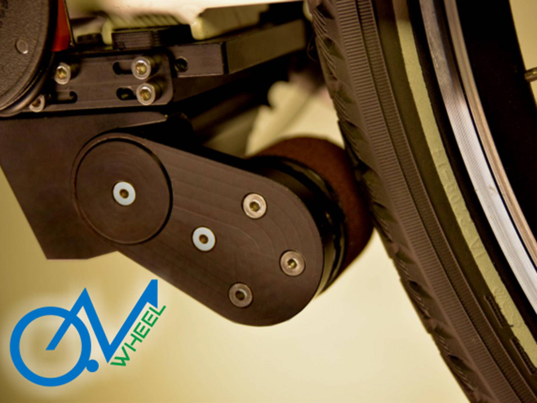 """Auch der Motor von """"go-e ONwheels"""" wird fast unsichtbar unters Tretlager montiert ..."""