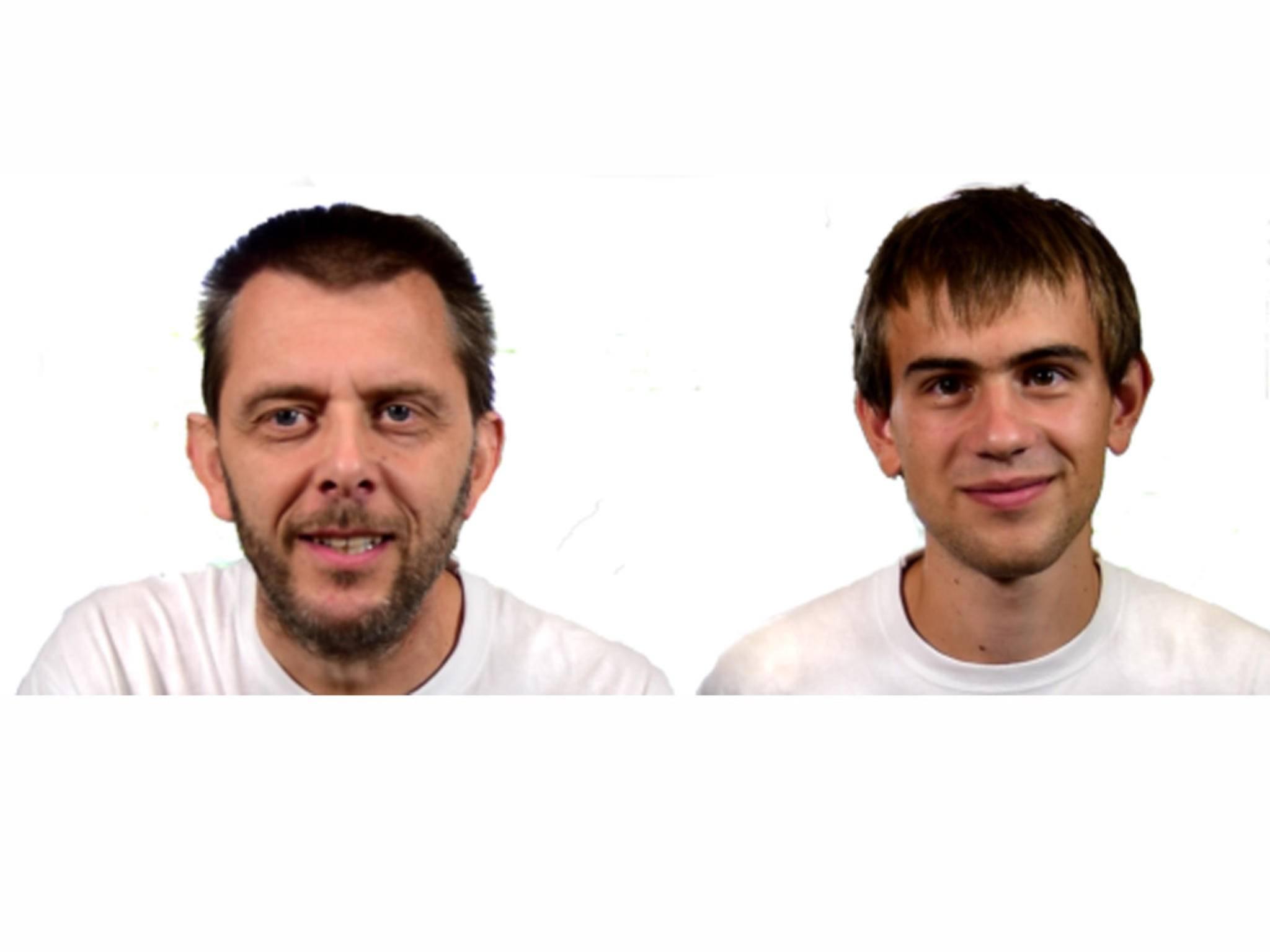 Die beiden Erfinder Frank Fox (links) und Peter Pötzi aus Österreich.