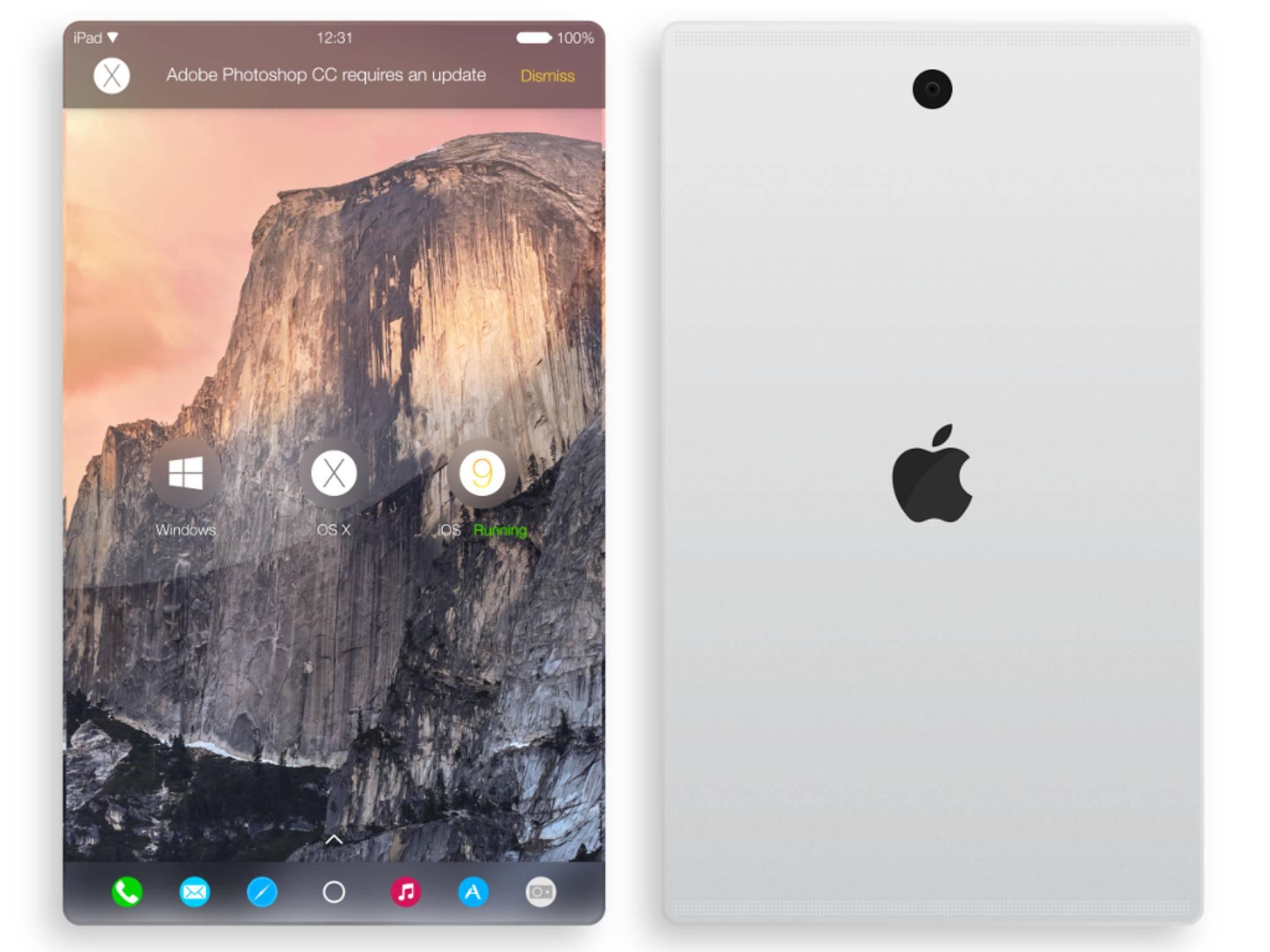 So stellt sich ein Konzept-Designer das iPad Pro vor.