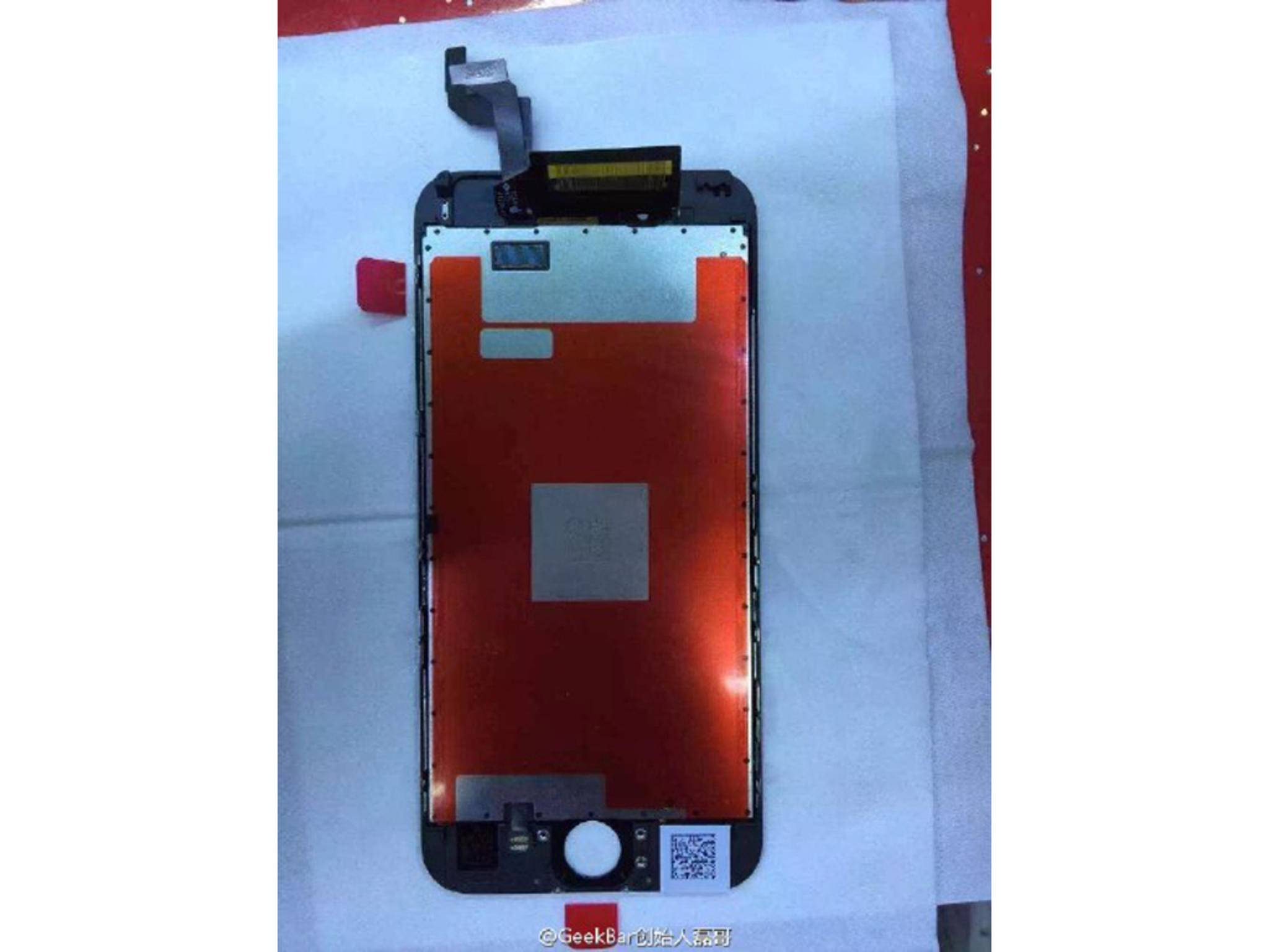 Angebliches Display des iPhone 6s.