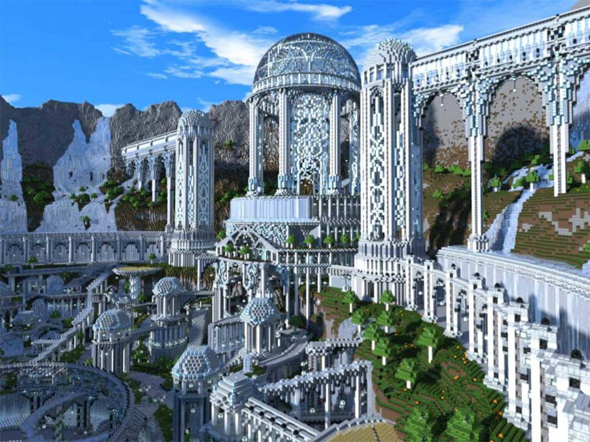 Adamantis ist eine riesige Fantasie-Stadt aus lauter Klötzchen.