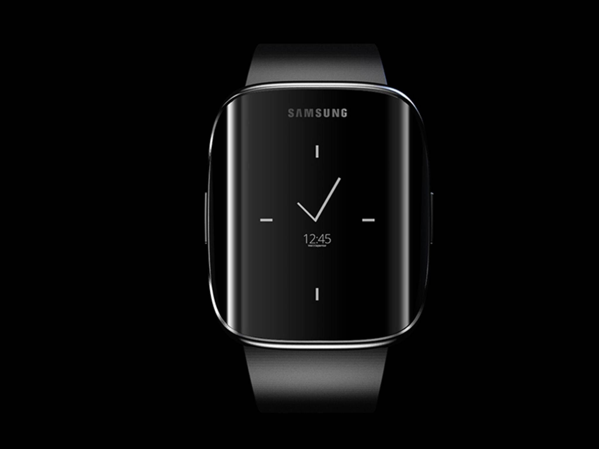 Ziemlich schick: Konzept einer Samsung-Smartwatch mit Edge-Display.
