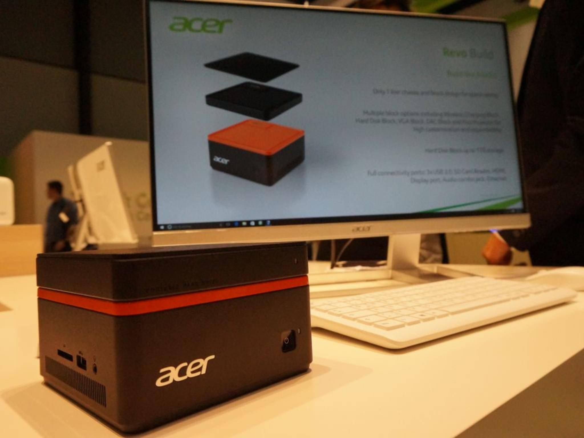 Der Acer Revo Build auf der IFA 2015.
