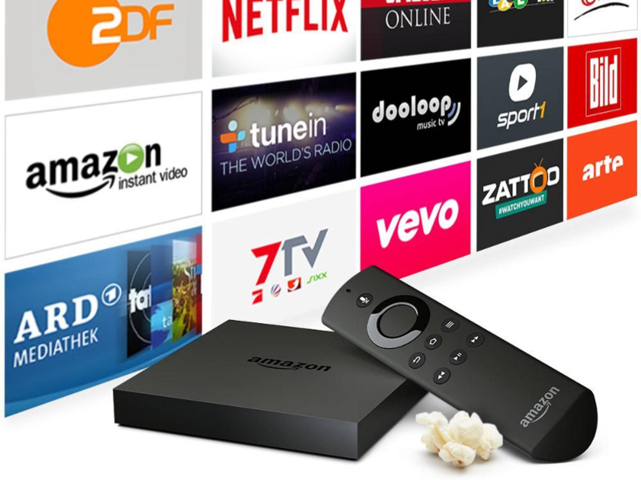 Der Fire TV von Amazon unterstützt 4K-Inhalte.