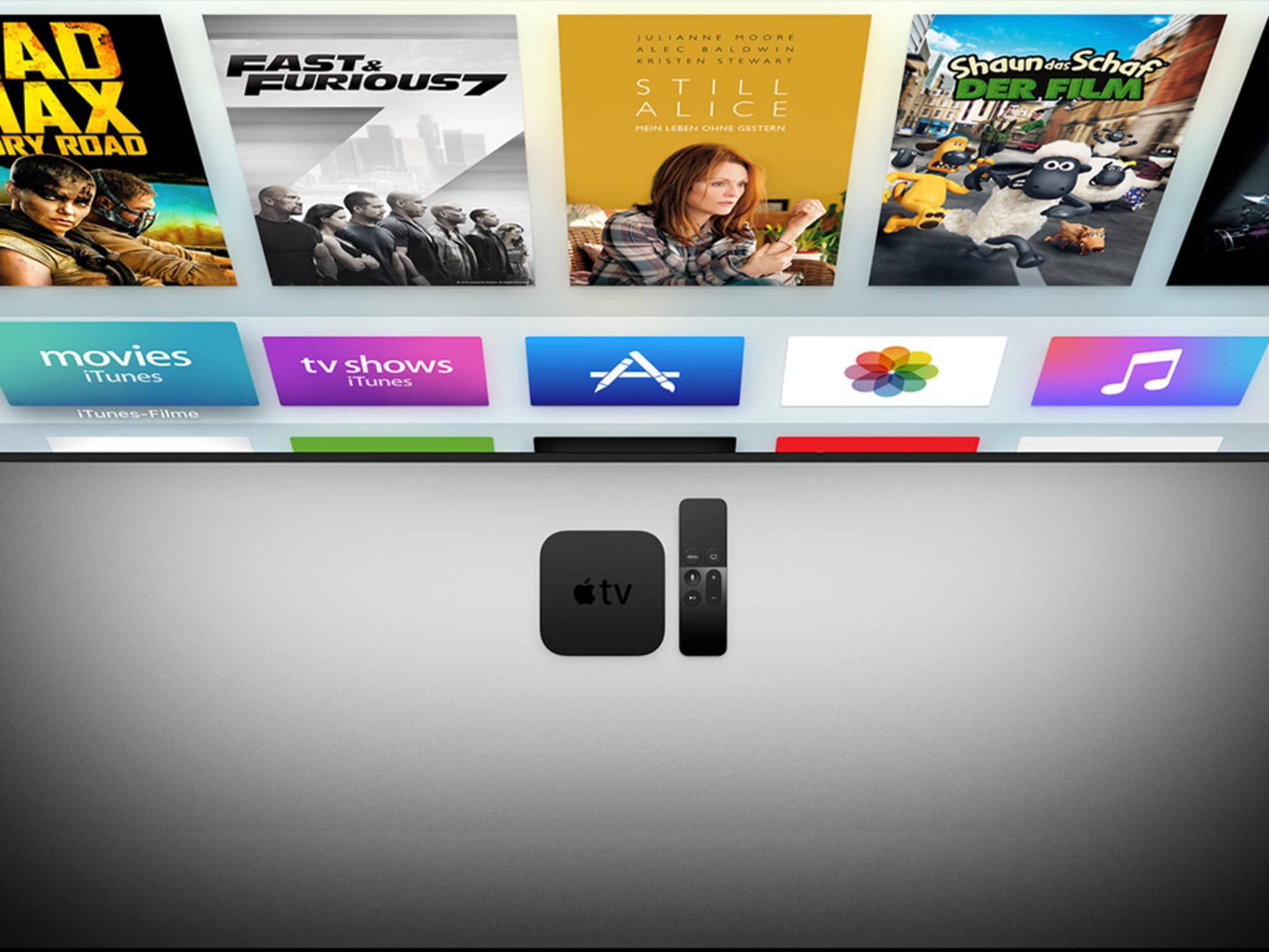 Der neue Apple TV mit Touchpad-Remote, Siri und tvOS.