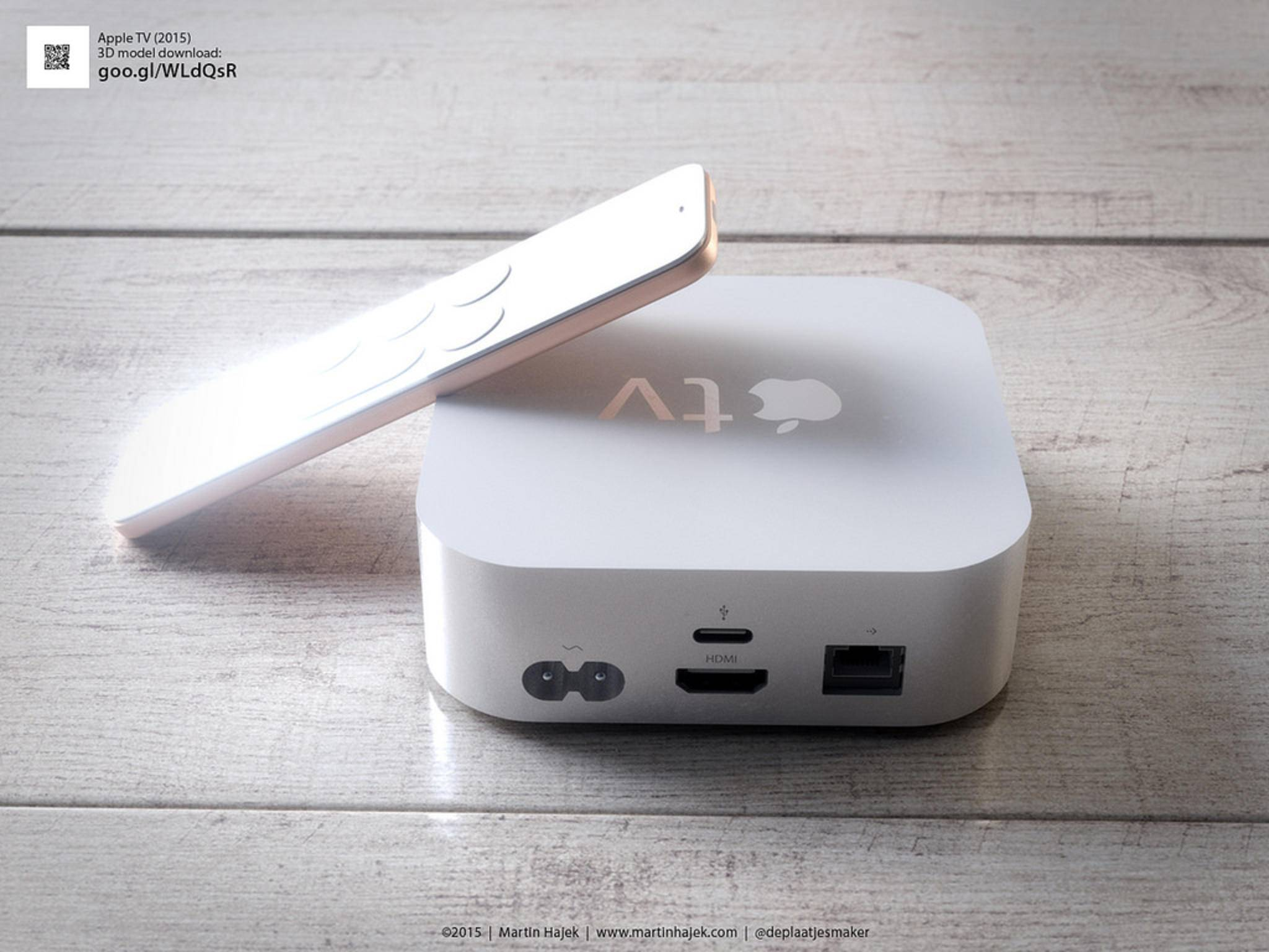 Bislang nur ein Wunschtraum: Der Apple TV in Weiß.