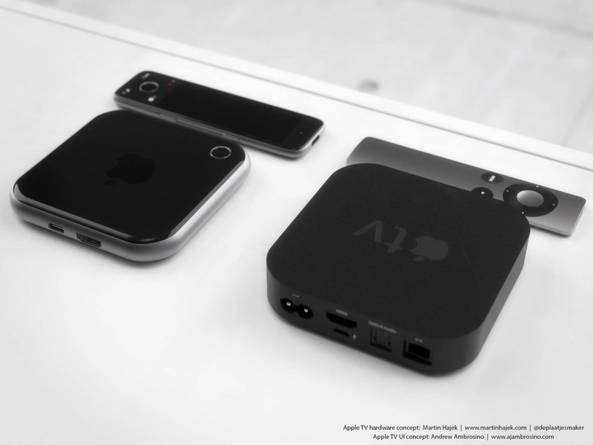Vergleich zu Apple TV 3: Kleiner und weniger Anschlüsse.