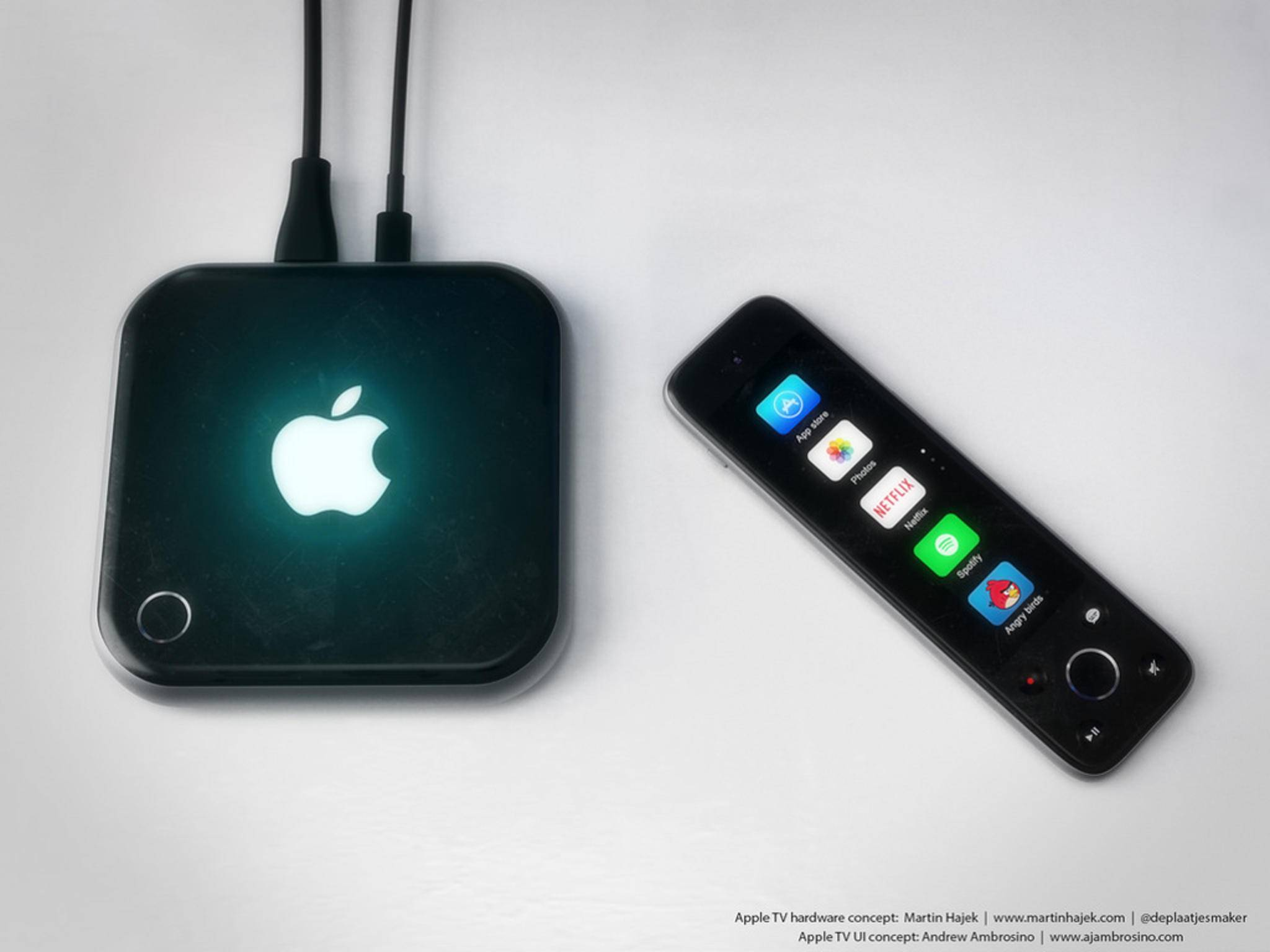 Das Apple TV 4-Konzept besticht durch eine Fernbedienung mit Touch-Display.
