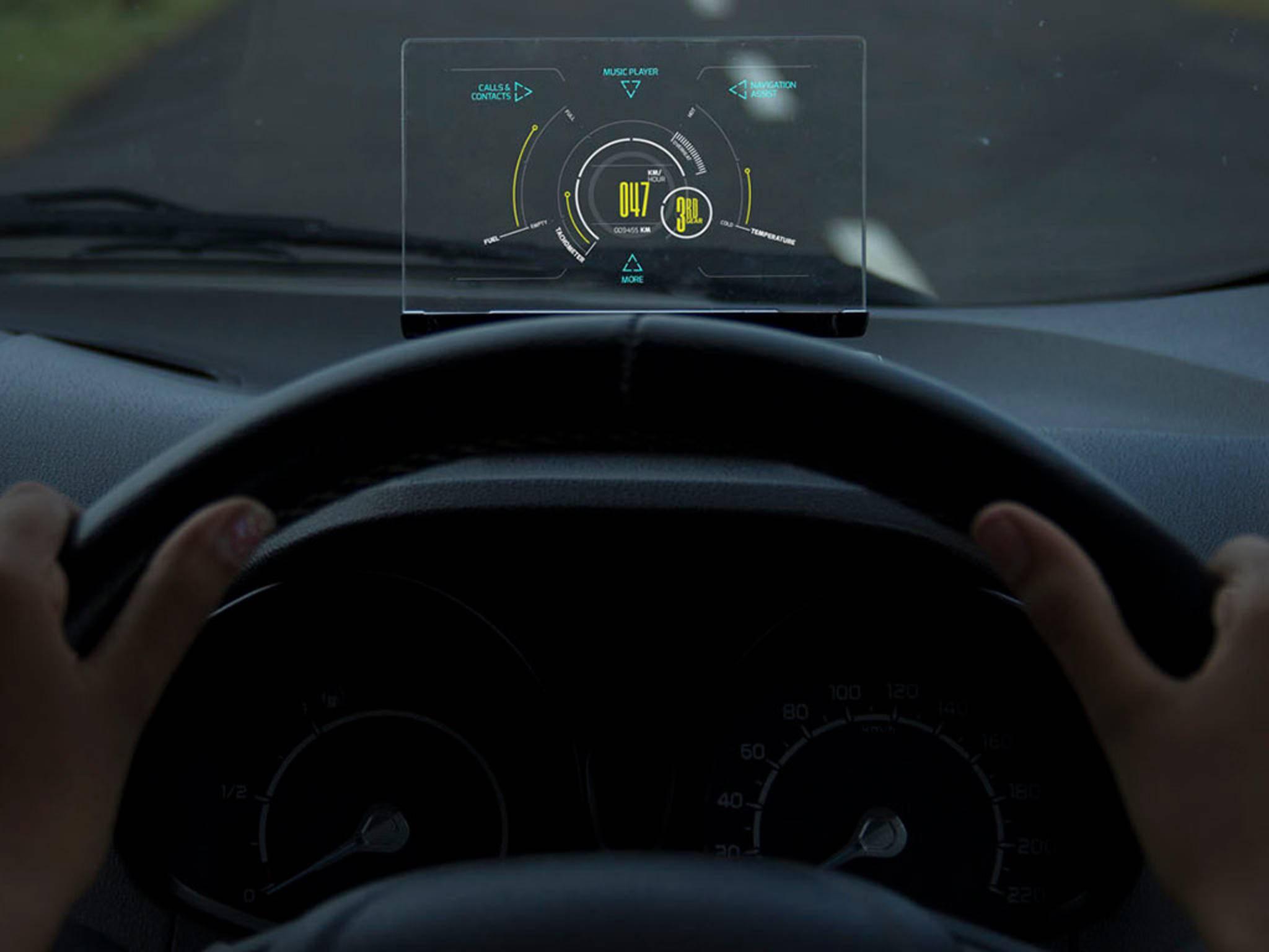 Selbst Geschwindigkeit, Benzinstand und andere Werte können ausgelesen werden.