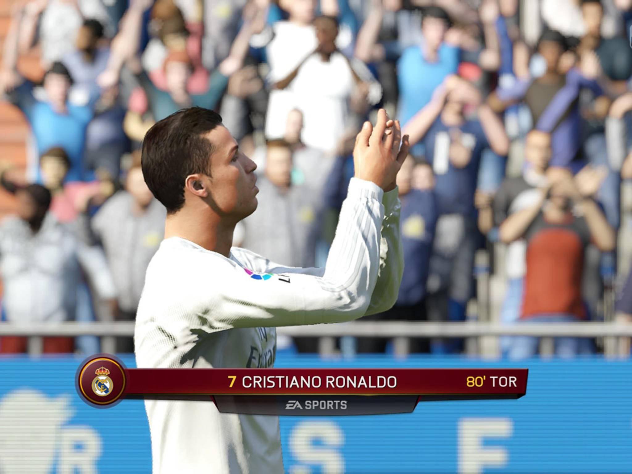 Ronaldo jubelt über seinen Torerfolg.