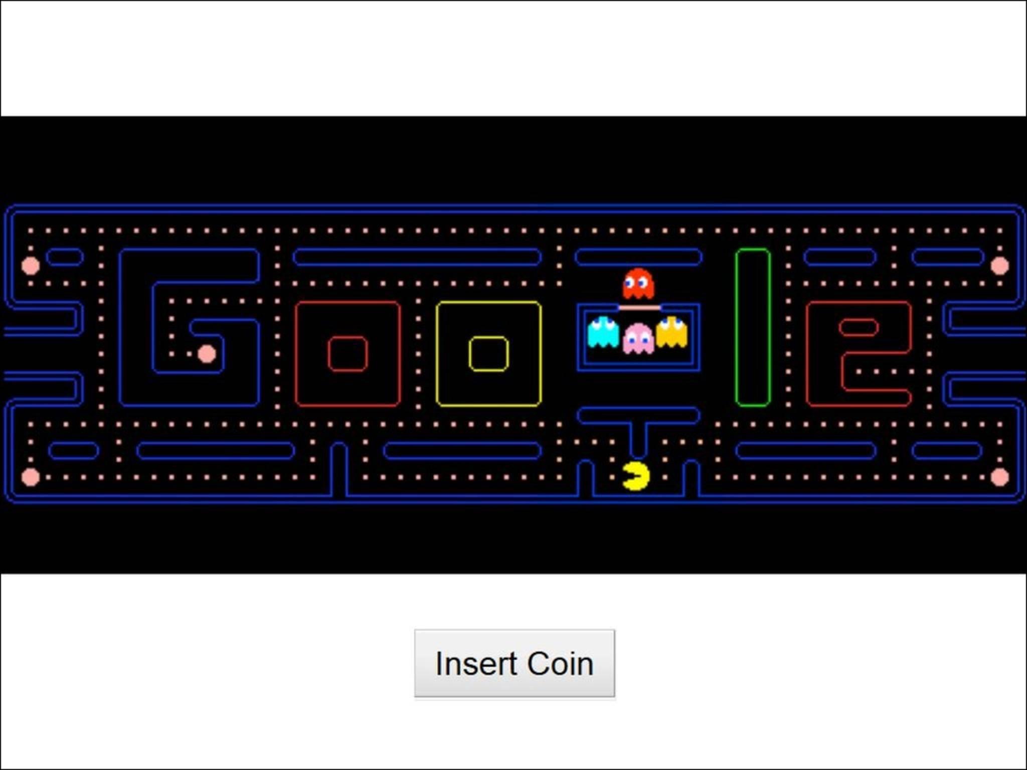 Google huldigt Pacman mit einem spielbaren Doodle.
