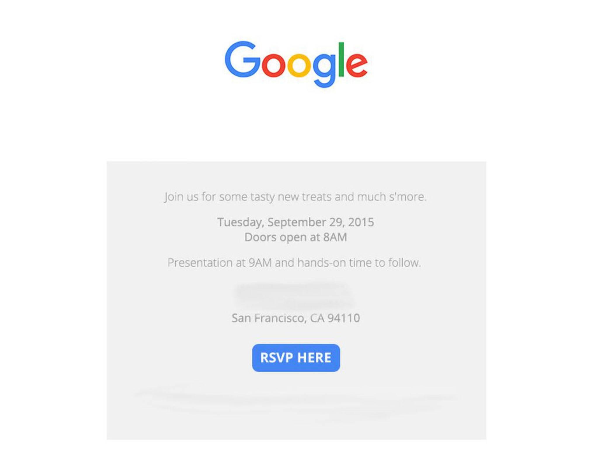 Google verspricht neue Süßigkeiten...