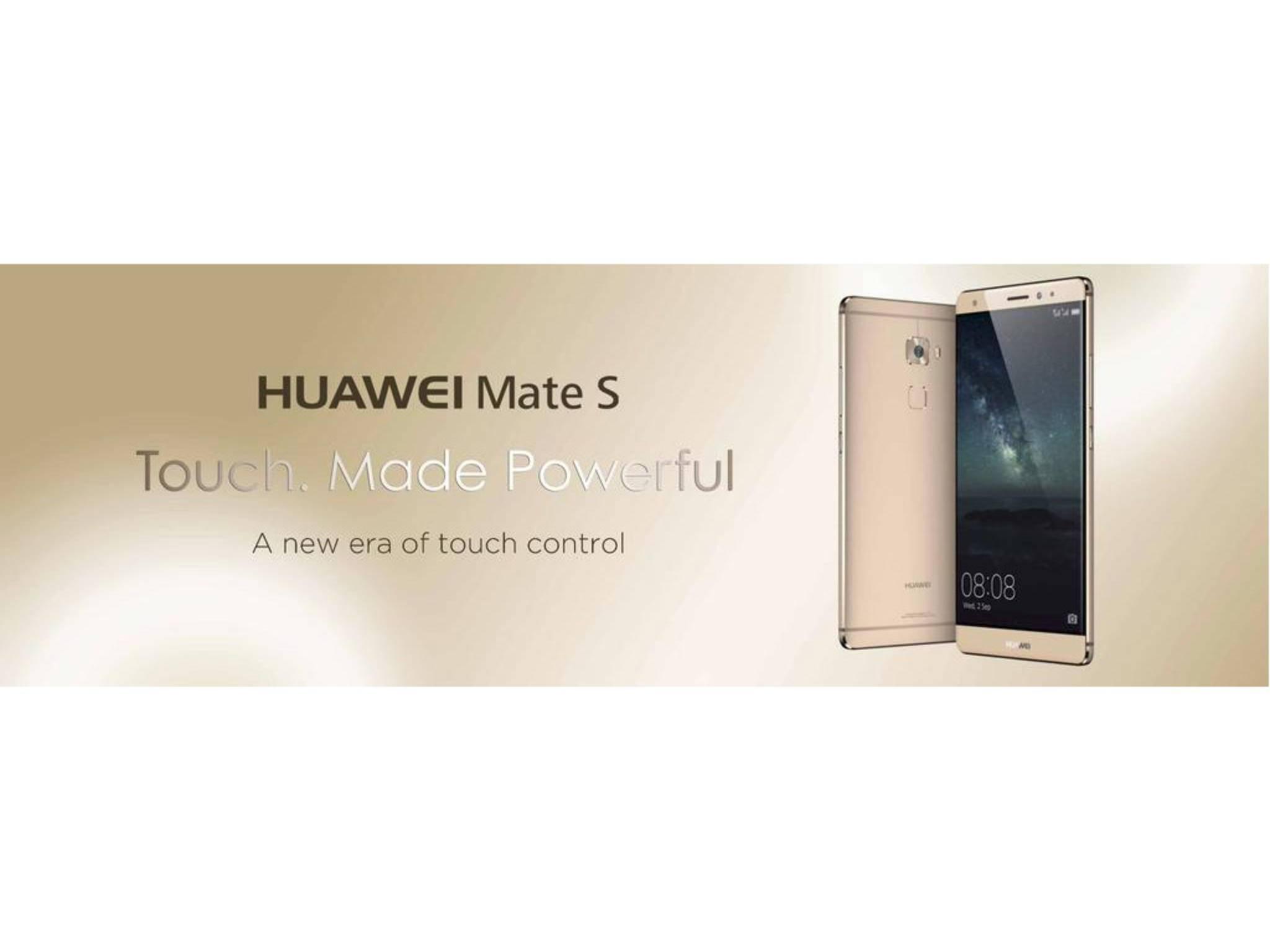 Das Huawei Mate S.