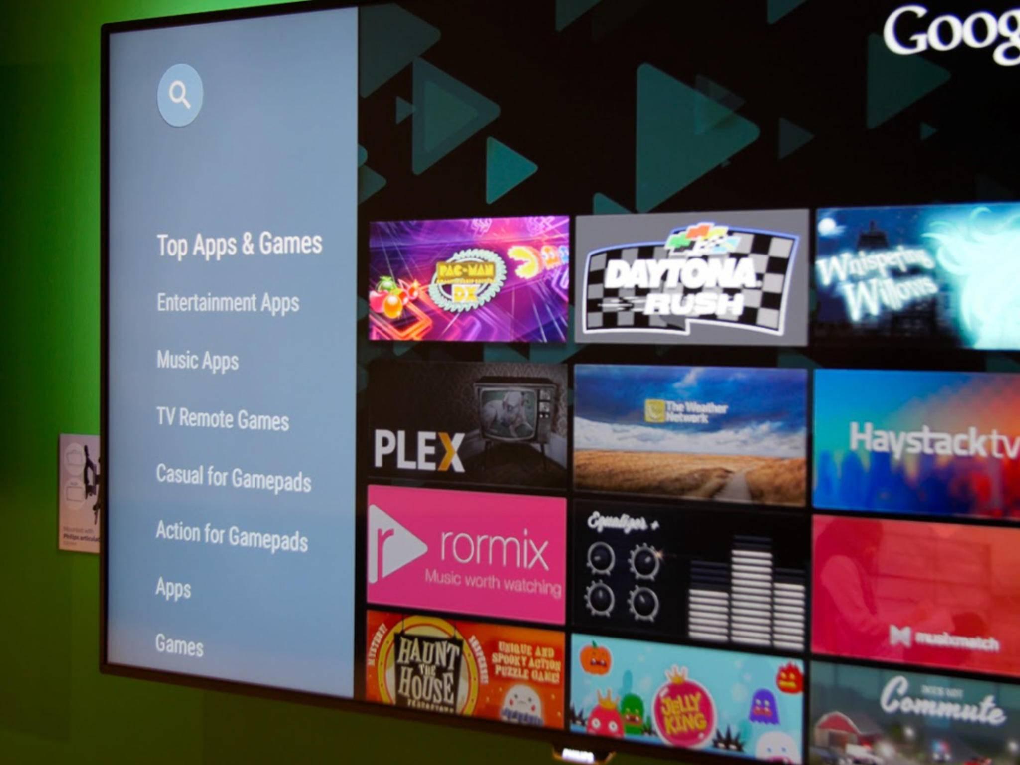 Der Google Play Store auf dem Fernseher: Mit Android TV kein Problem.