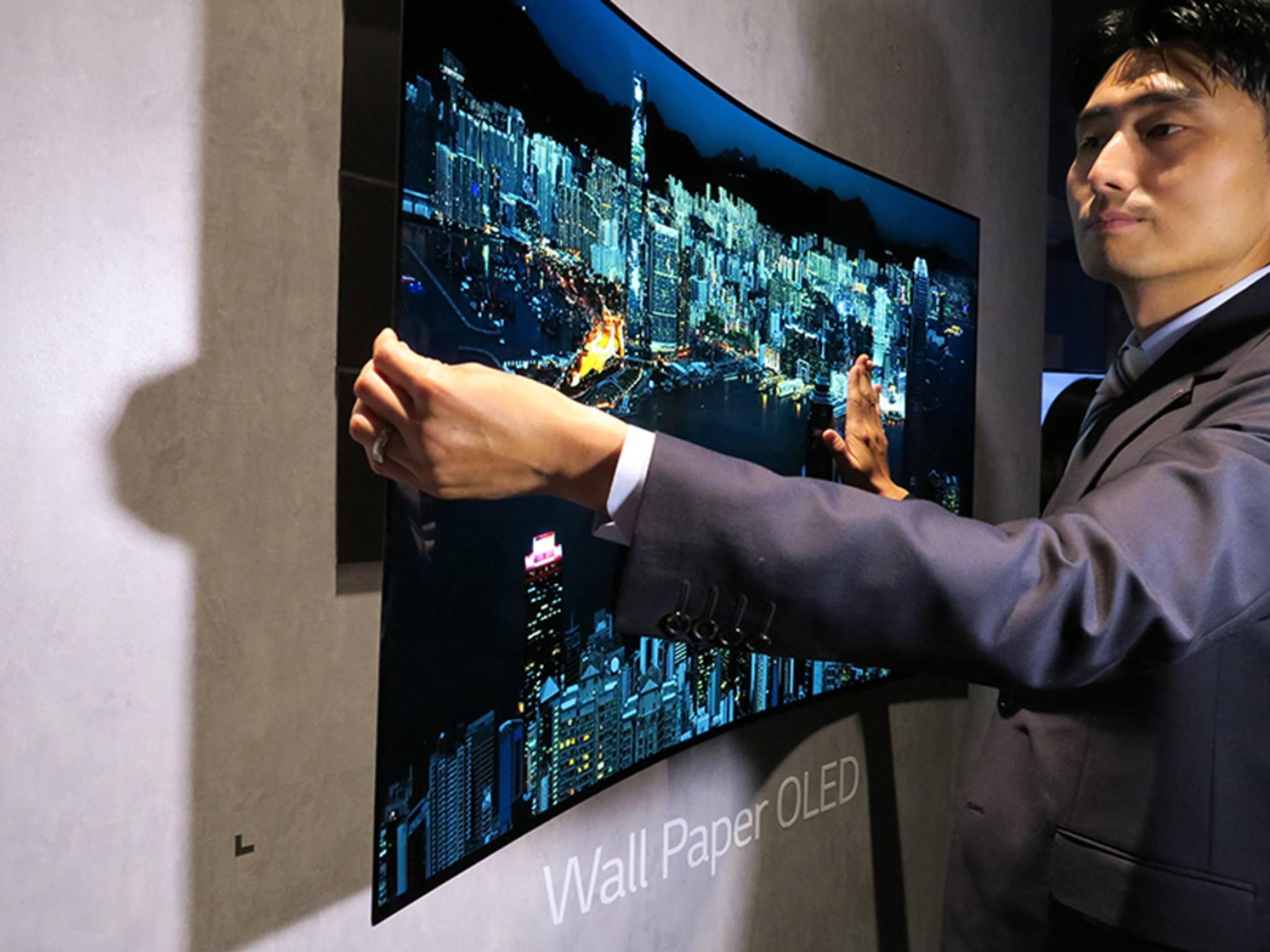 LG möchte einen aufrollbaren Fernseher produzieren.