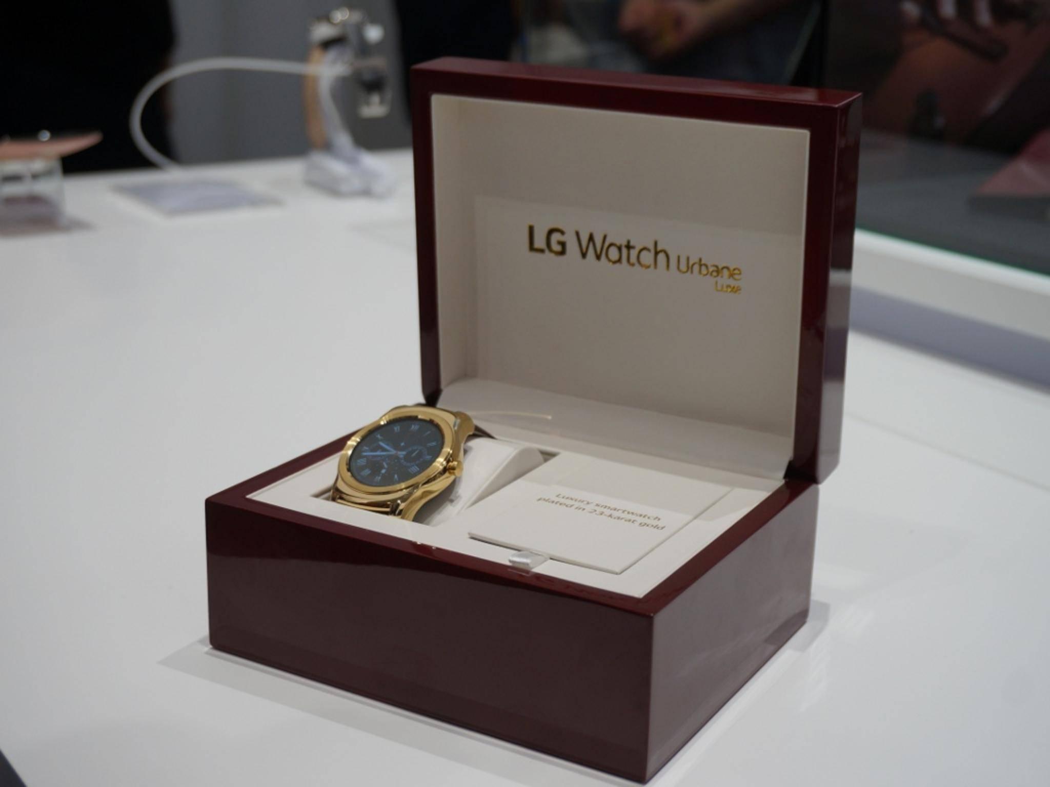 Auch LG hat mit seiner Watch Urbane eine neue Uhr gezeigt...