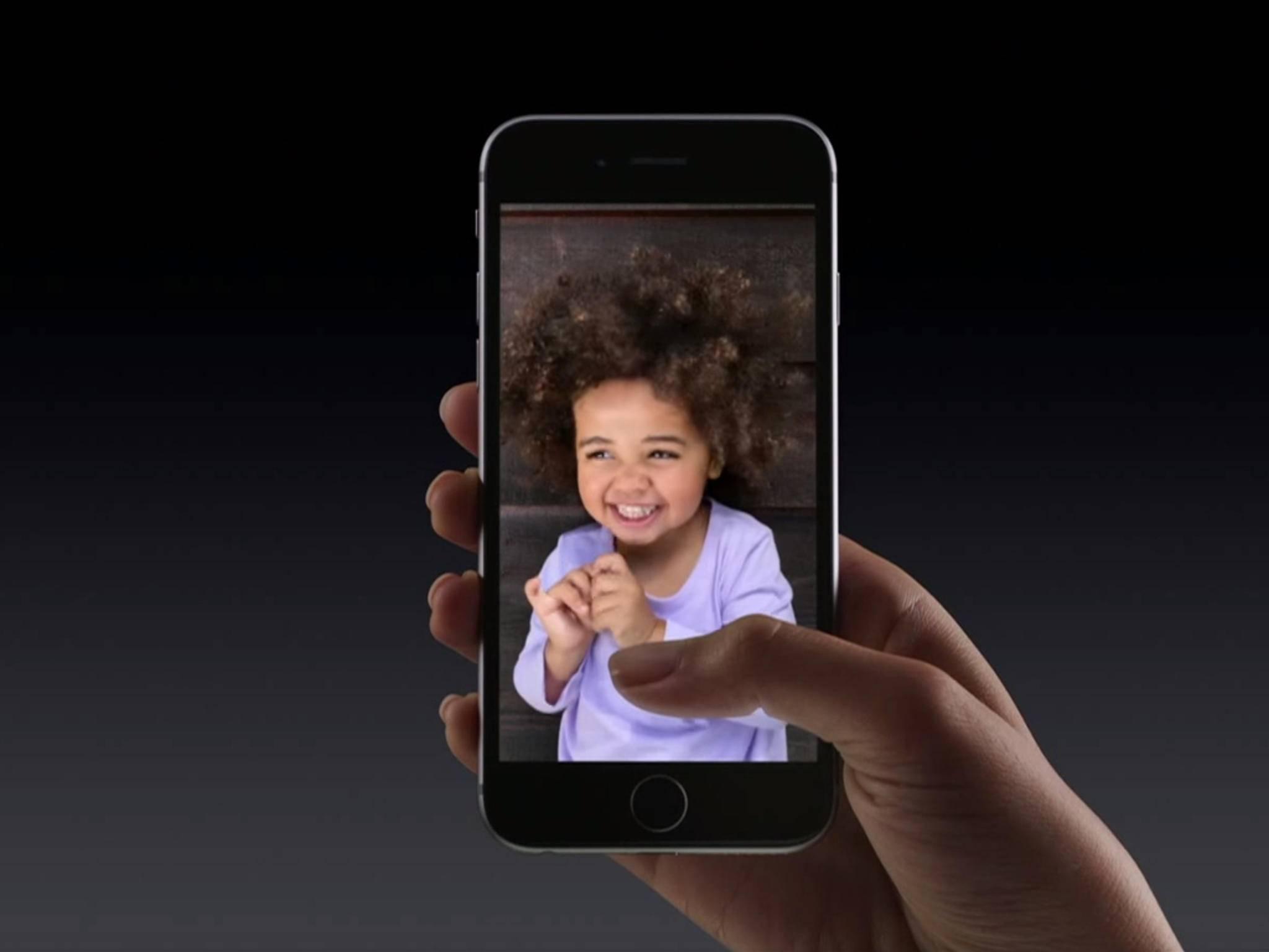Live Photos kann man nur mit dem iPhone 6s & 6s Plus machen.