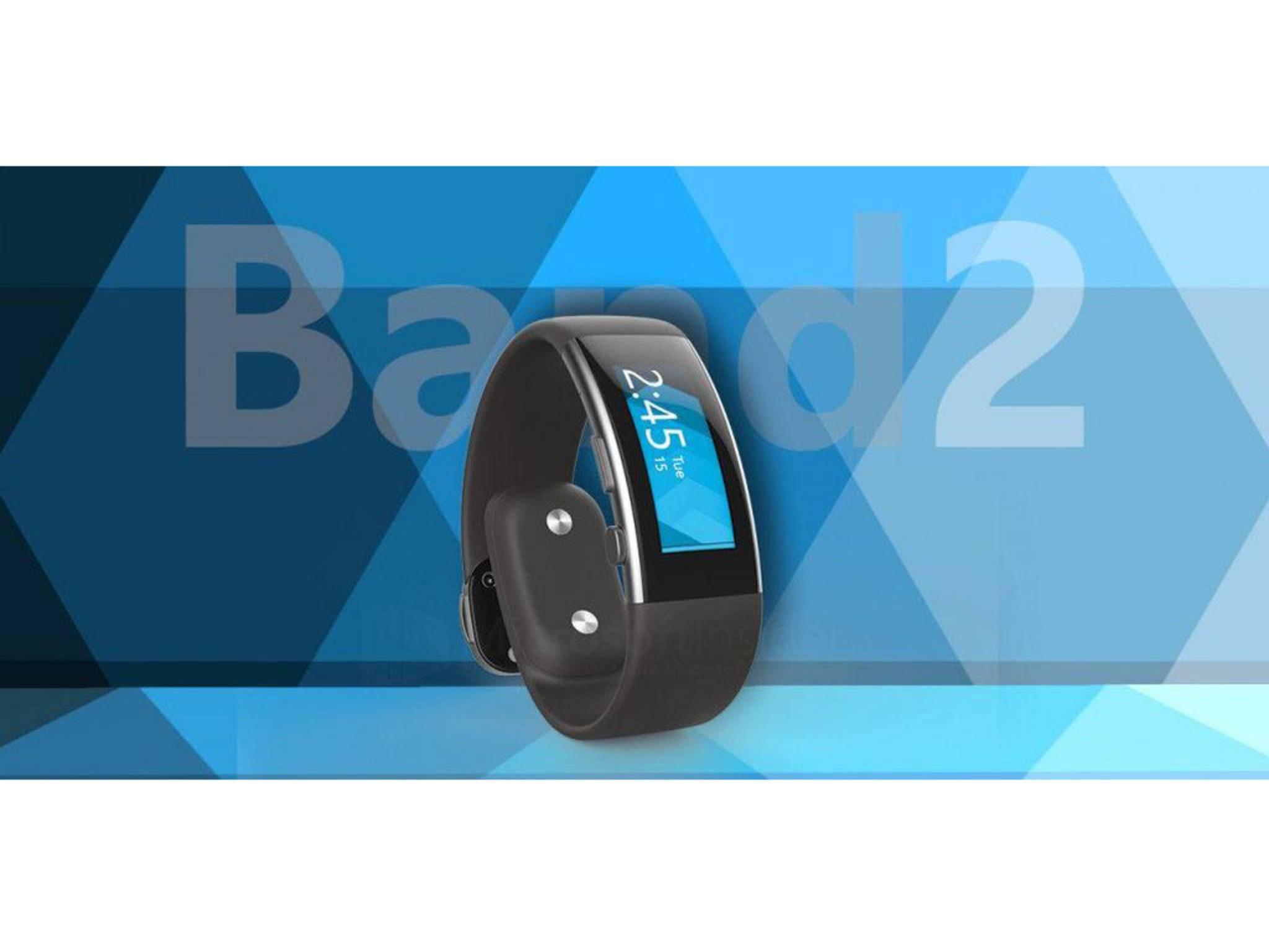 Das Microsoft Band 2 soll ein Curved-Display bekommen.