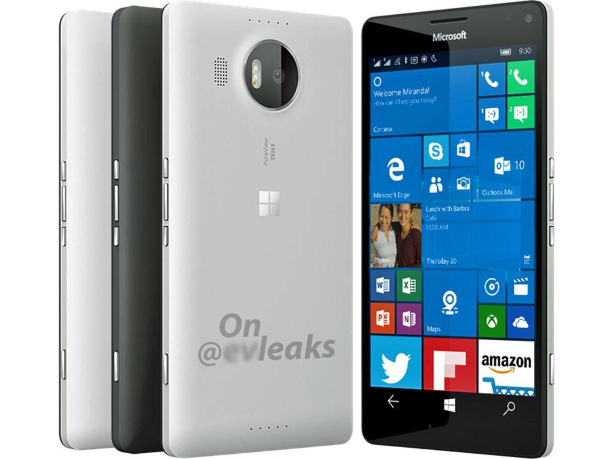 So soll das neue Microsoft Lumia 950 XL angeblich aussehen.