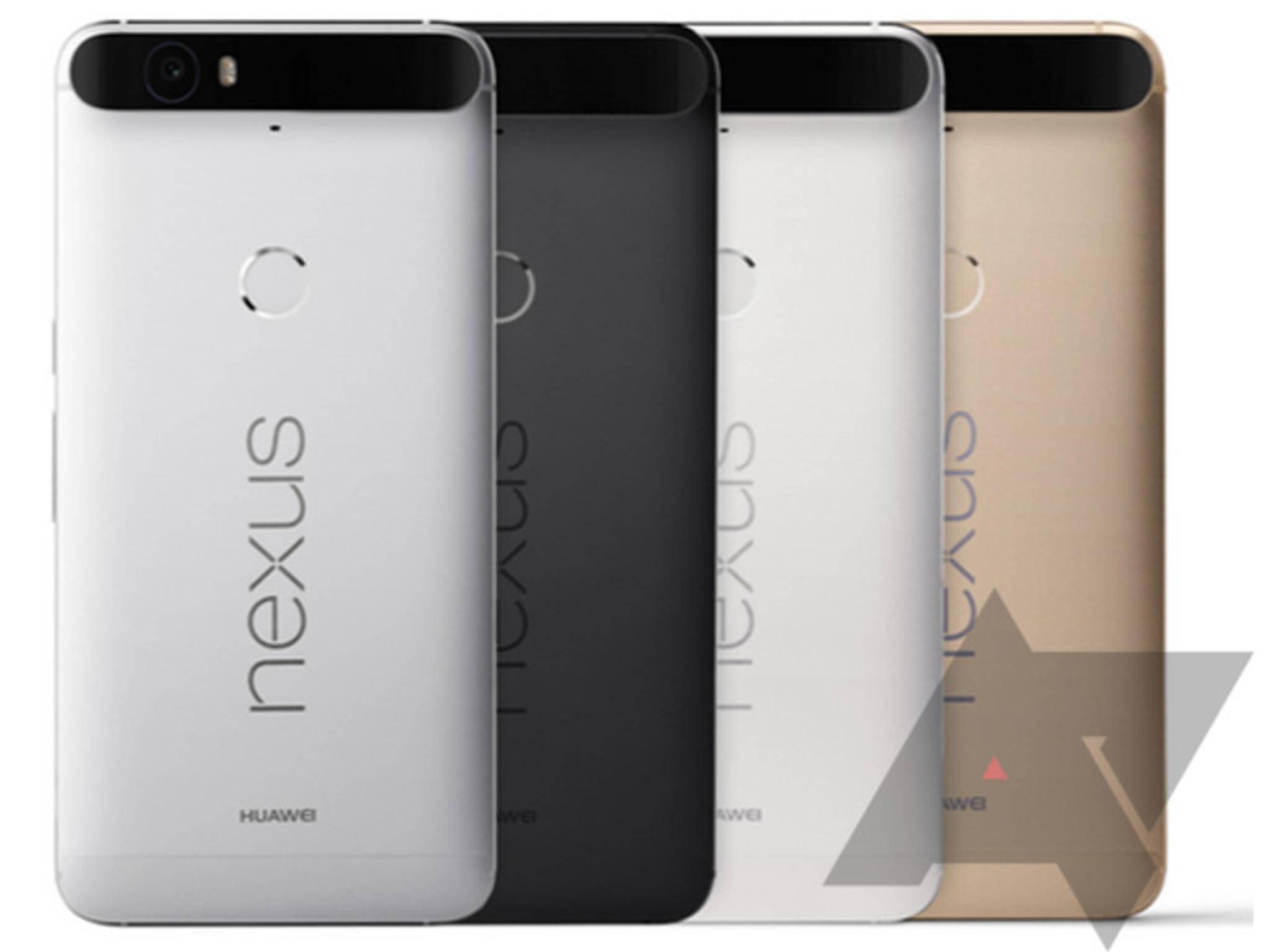 Das Nexus 6P von Huawei zeigte sich in verschiedenen Farben.