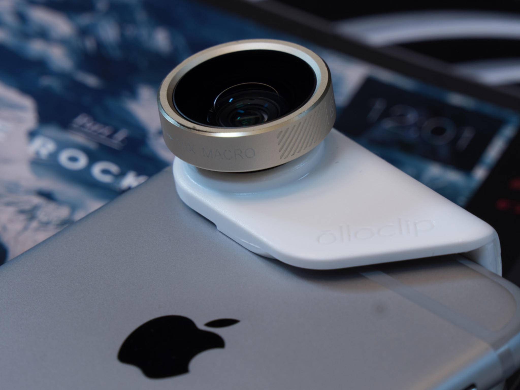Der Olloclip auf dem iPhone 6s.
