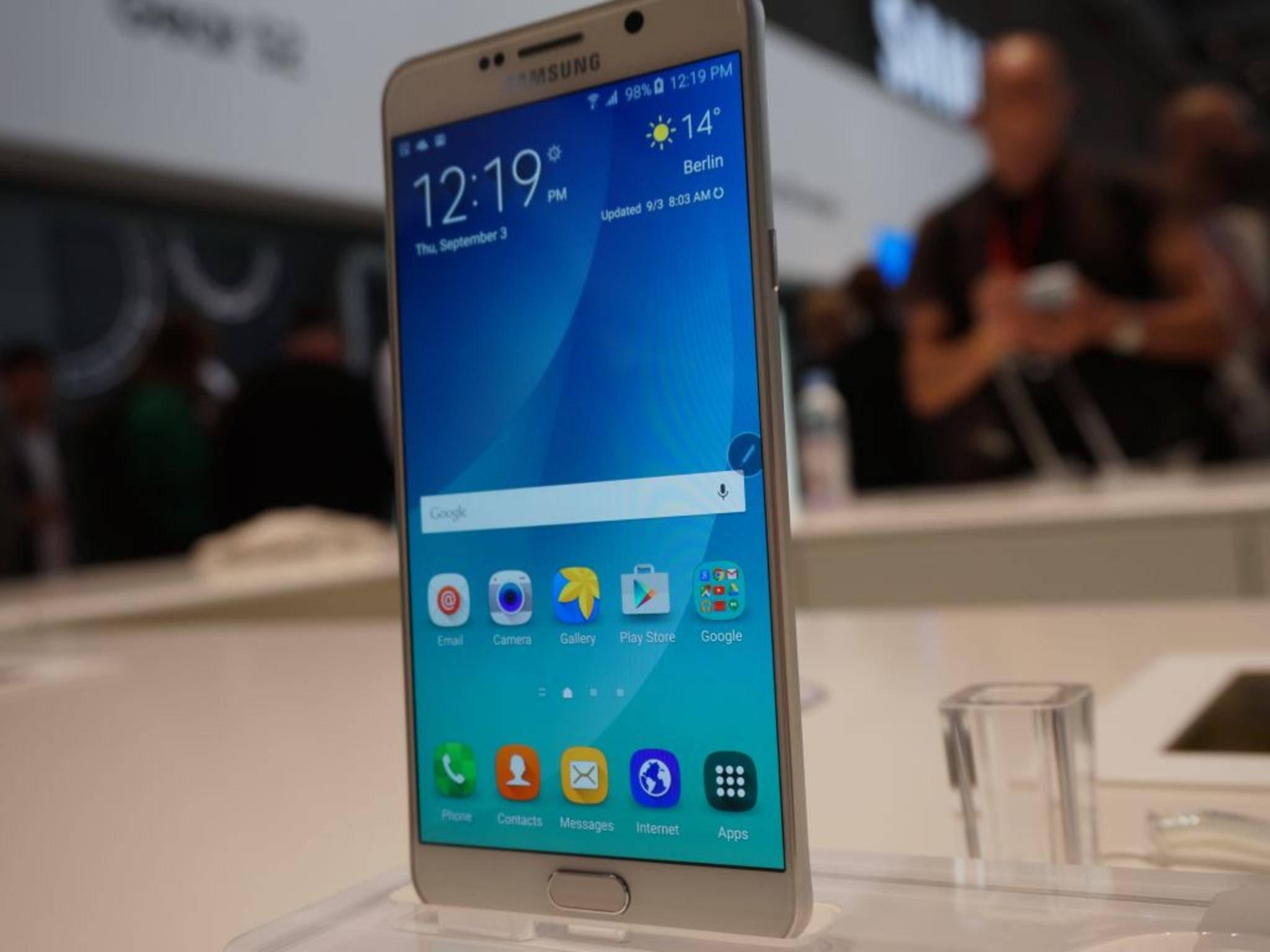 Das Galaxy Note 5 gibt es derzeit noch nicht in Deutschland zu kaufen.