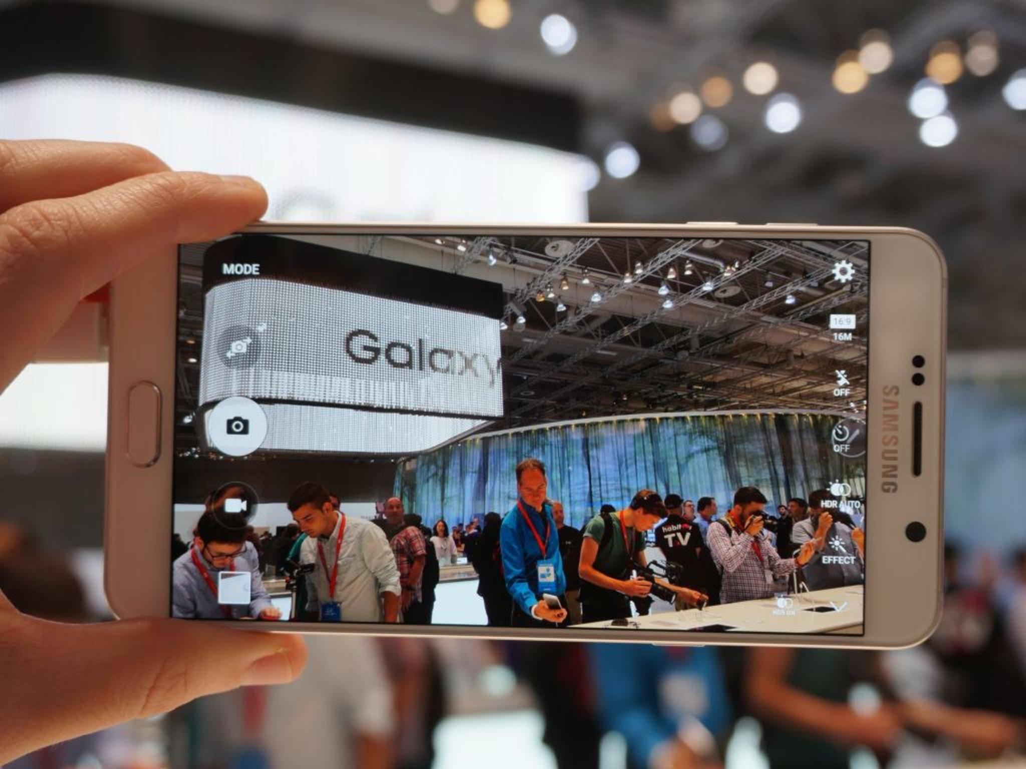 Die Kamera des Galaxy Note 6 soll noch besser als die des Galaxy S7 werden.