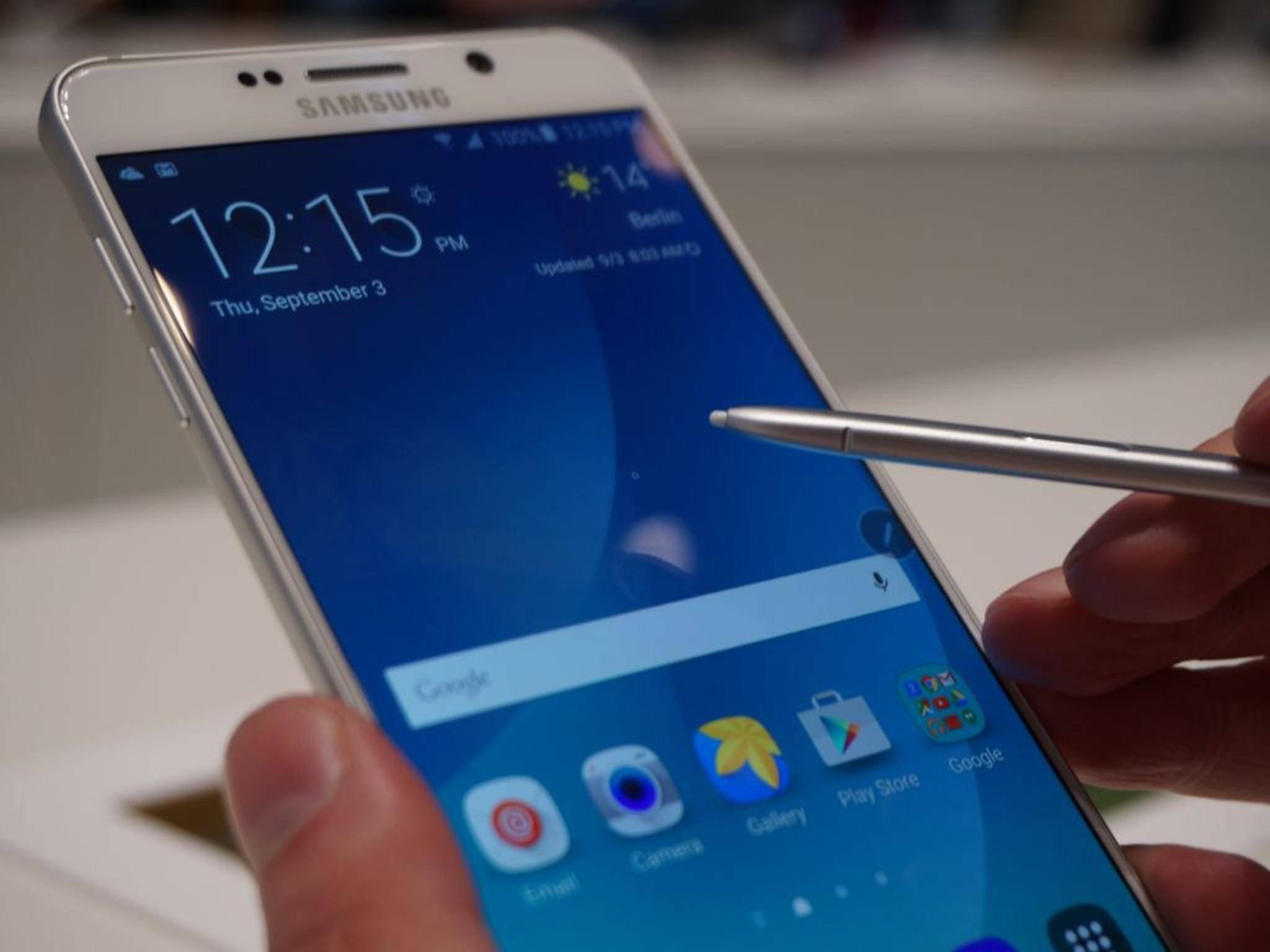 Der S-Pen beim Galaxy Note 5 soll keine Probleme mehr machen.
