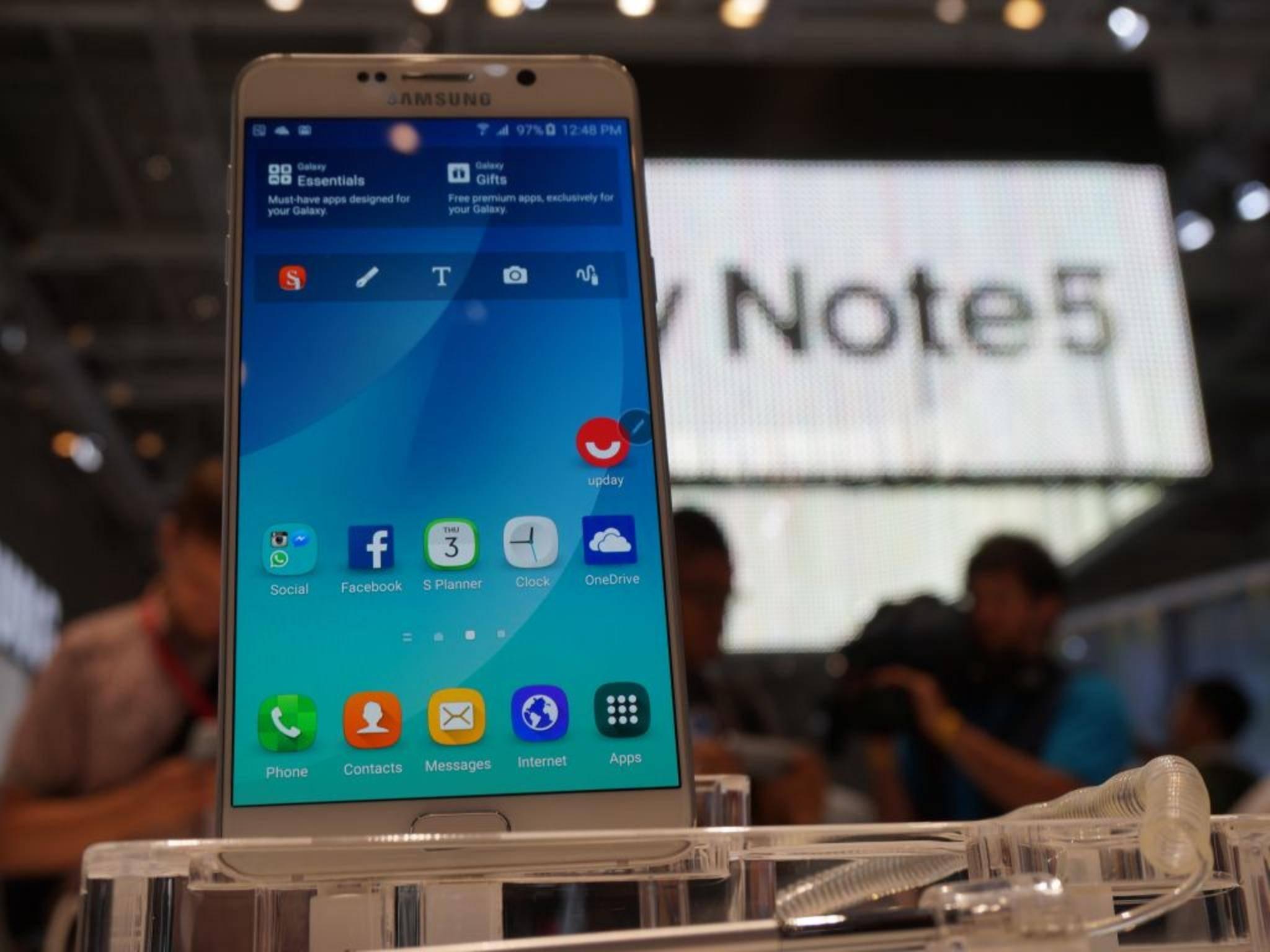 Das Galaxy Note 5 erscheint jetzt in Südkorea mit 128 GB Speicher.