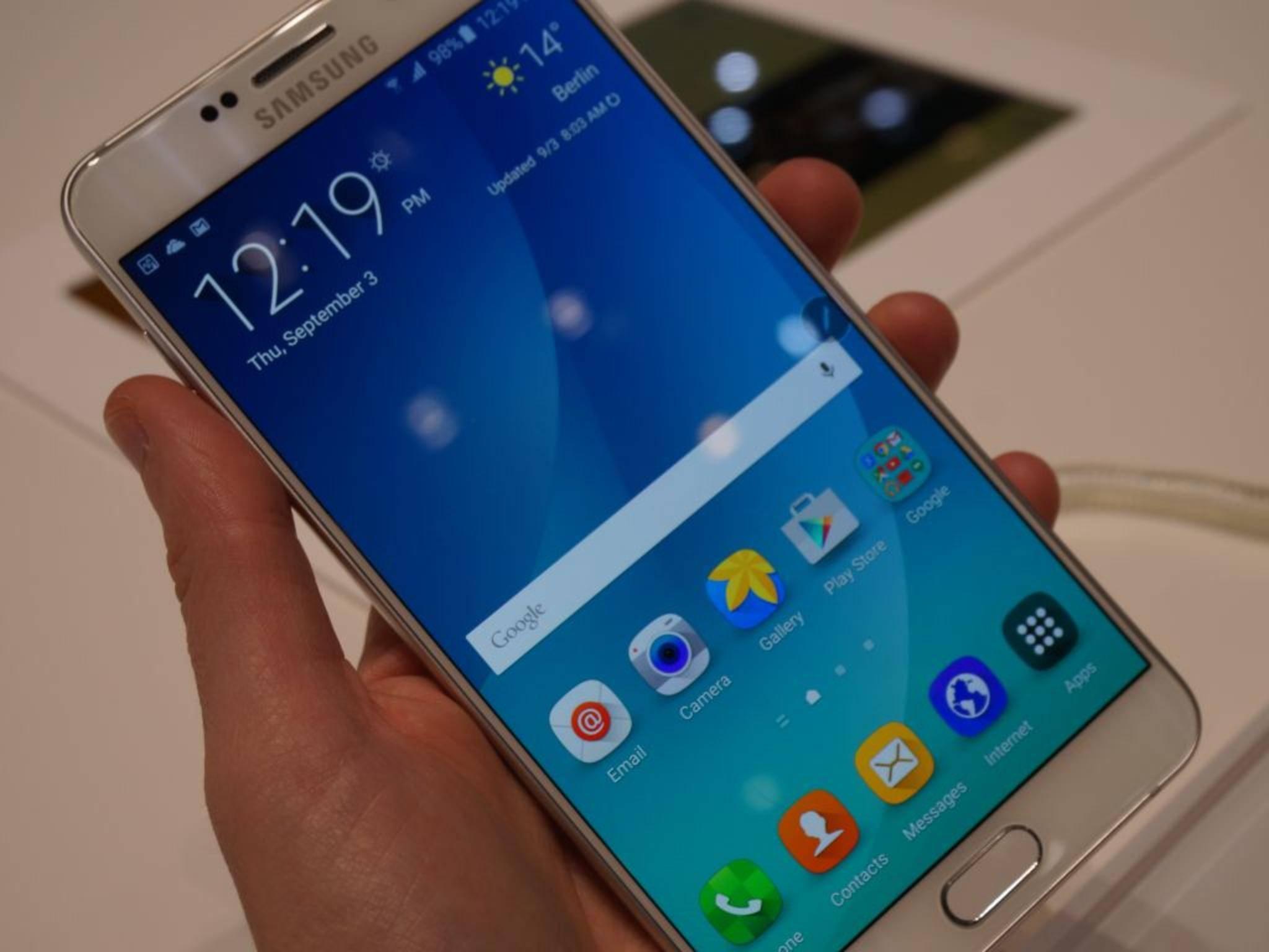 Eines der IFA-Highlights 2015: das Samsung Galaxy Note 5.