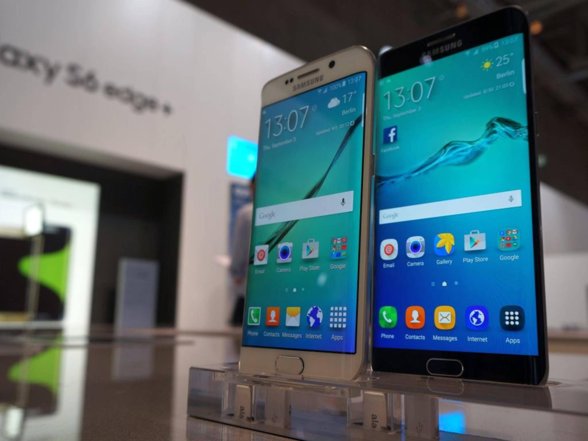 Die Edge-Displays kennt man so schon vom kleineren Galaxy S6 Edge.