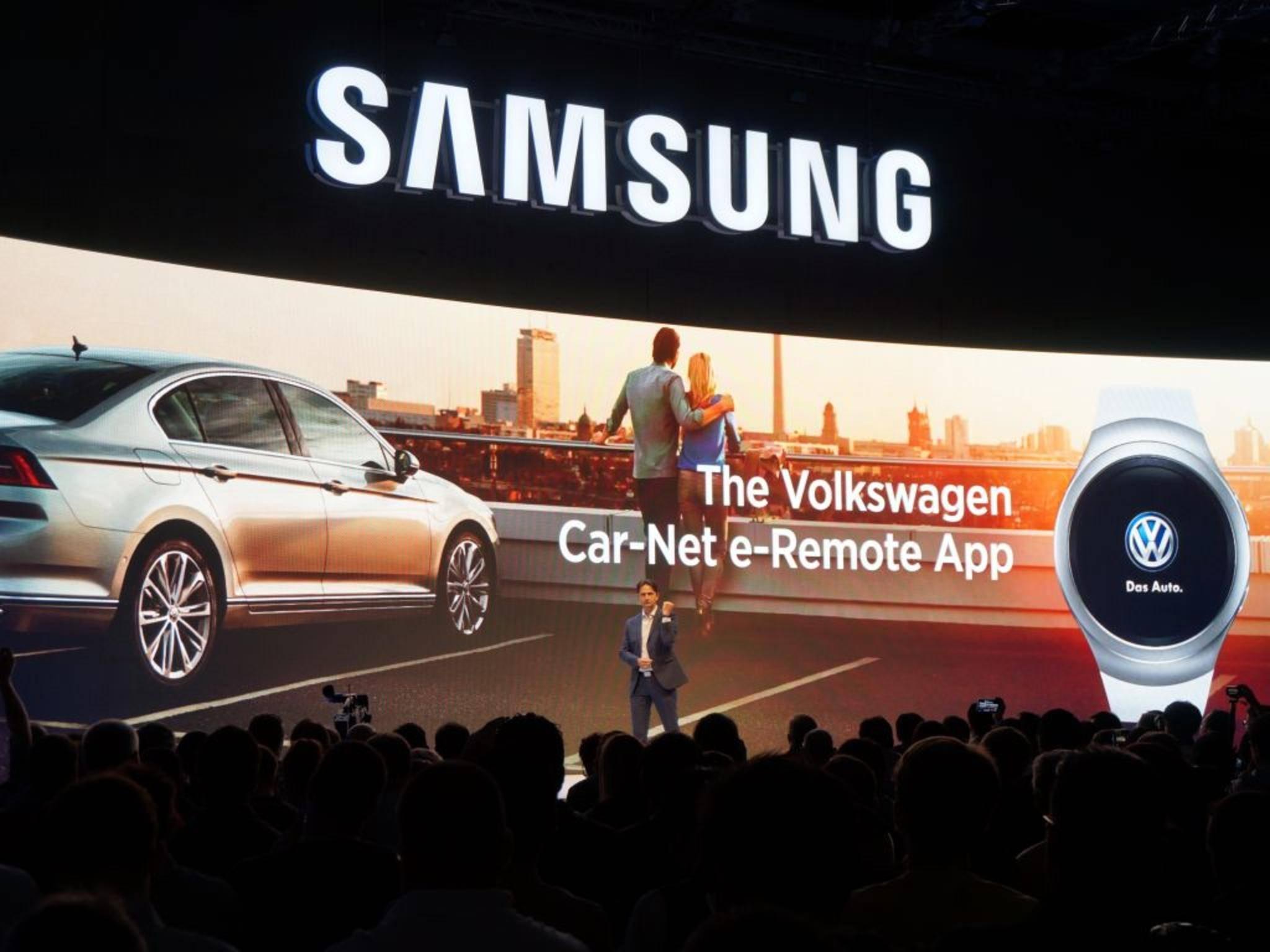 Bei Samsungs IFA-Pressekonferenz gab es nur einen kurzen Blick auf die Gear S2.