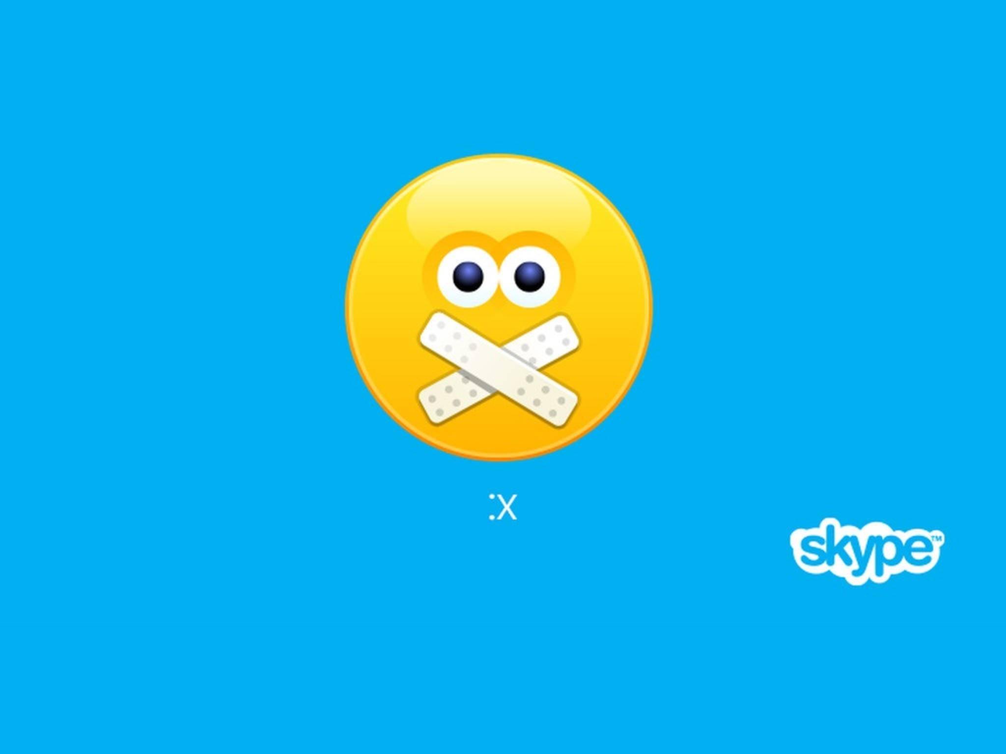 Ohne Login keine Kommunikation – Skype bleibt am Montag still.